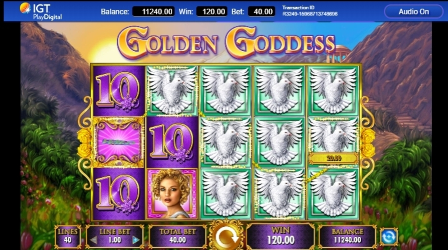 Win Money in Golden Goddess Free Slot Game by IGT