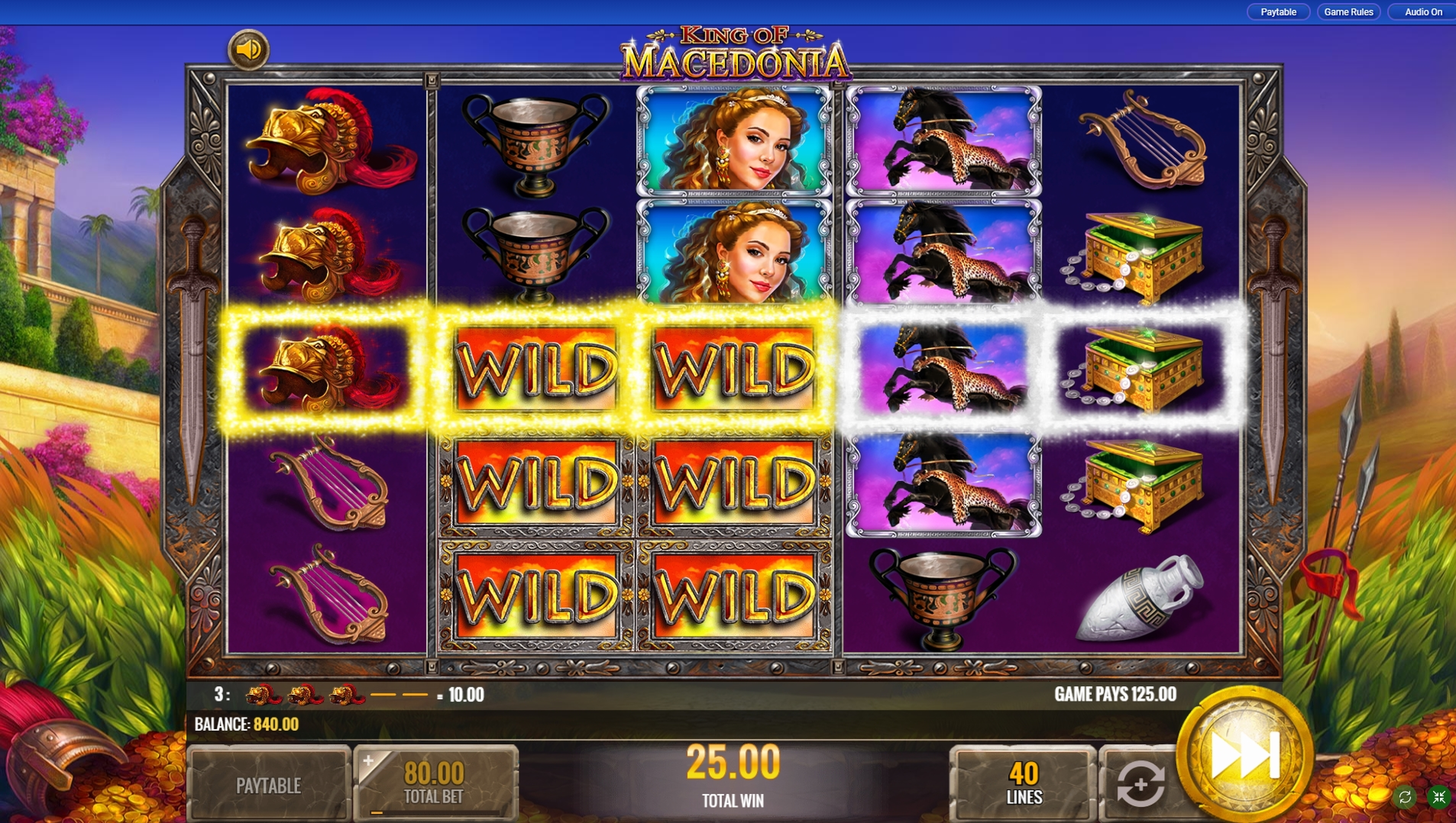 Win Money in King of Macedonia Free Slot Game by IGT