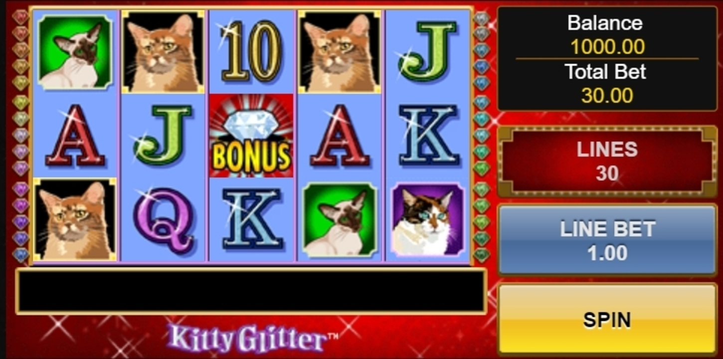 Reels in Kitty Glitter Slot Game by IGT
