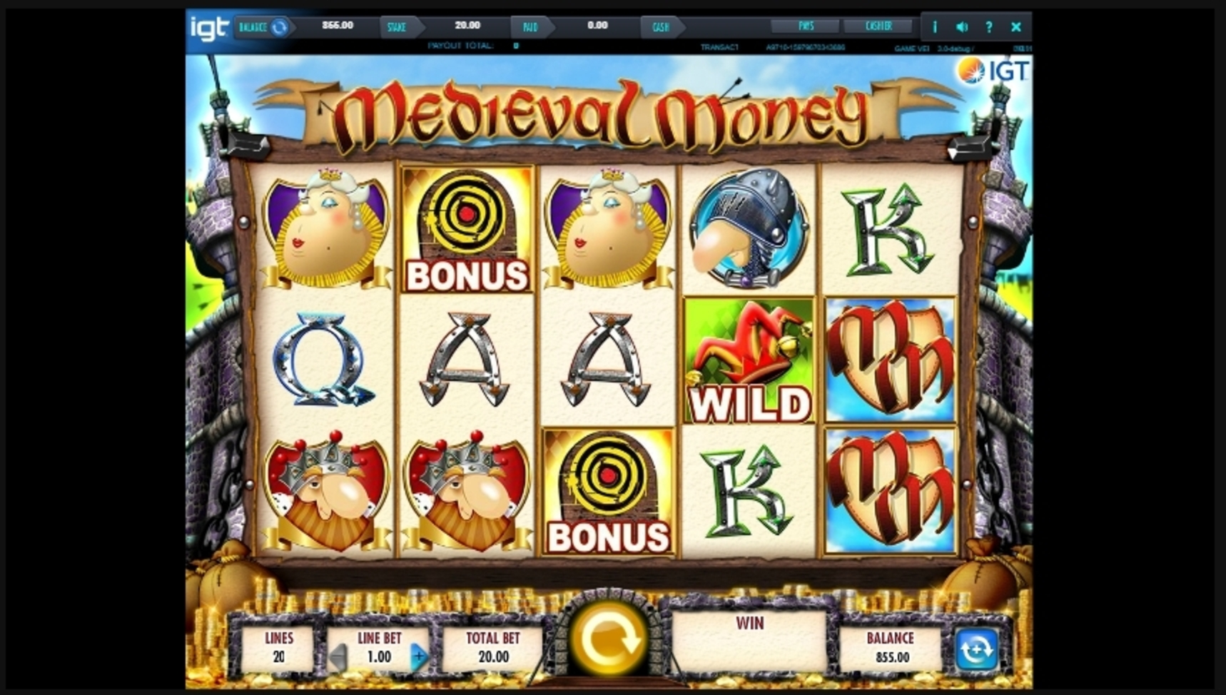Reels in Medieval Money Slot Game by IGT
