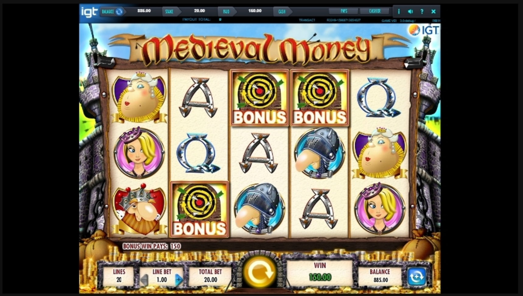 Win Money in Medieval Money Free Slot Game by IGT