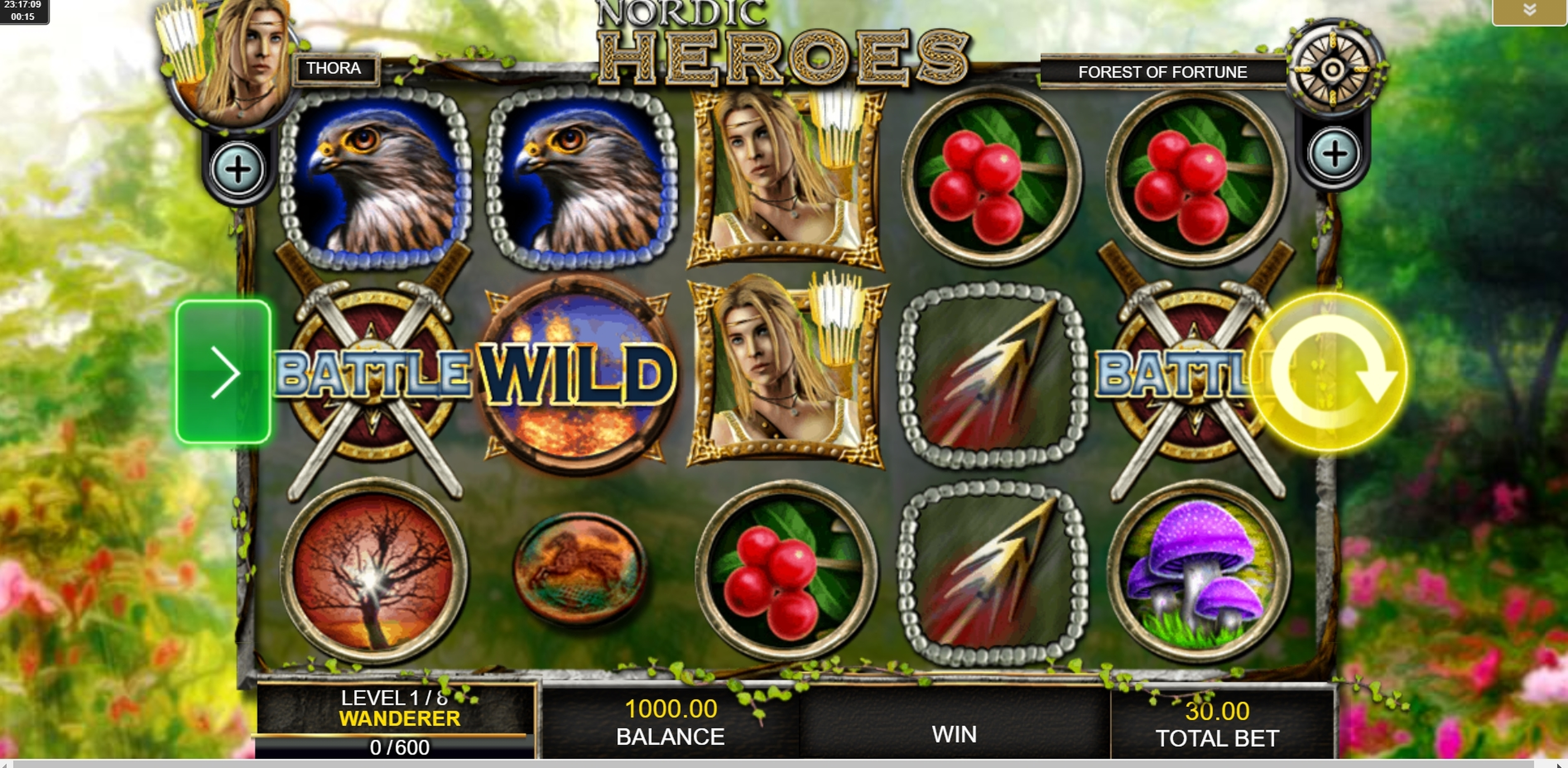 Reels in Nordic Heroes Slot Game by IGT