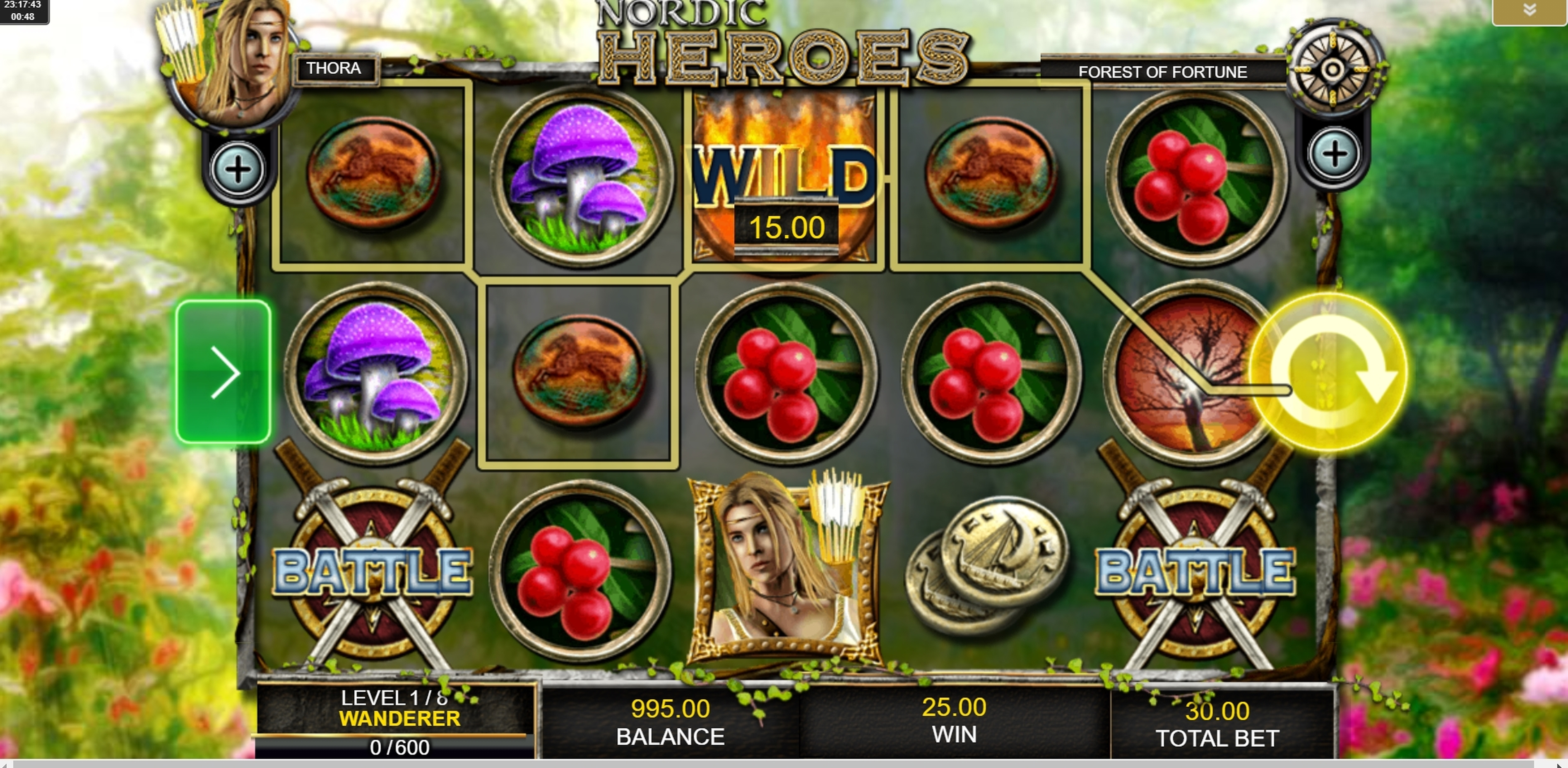 Win Money in Nordic Heroes Free Slot Game by IGT