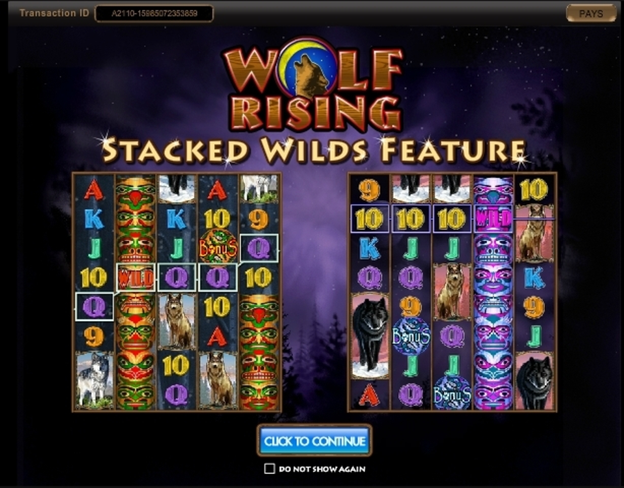 Play Wolf Rising Free Casino Slot Game by IGT