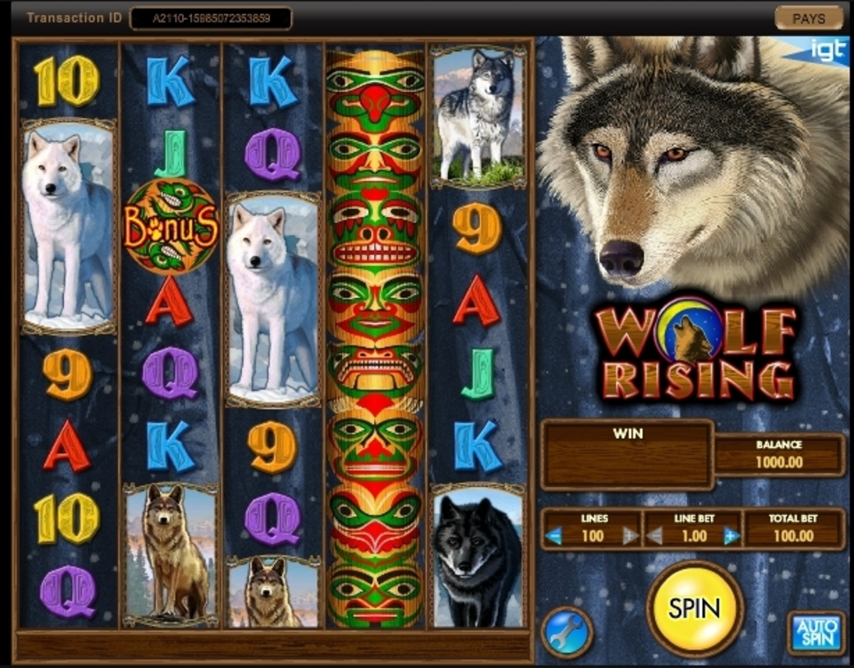 Reels in Wolf Rising Slot Game by IGT