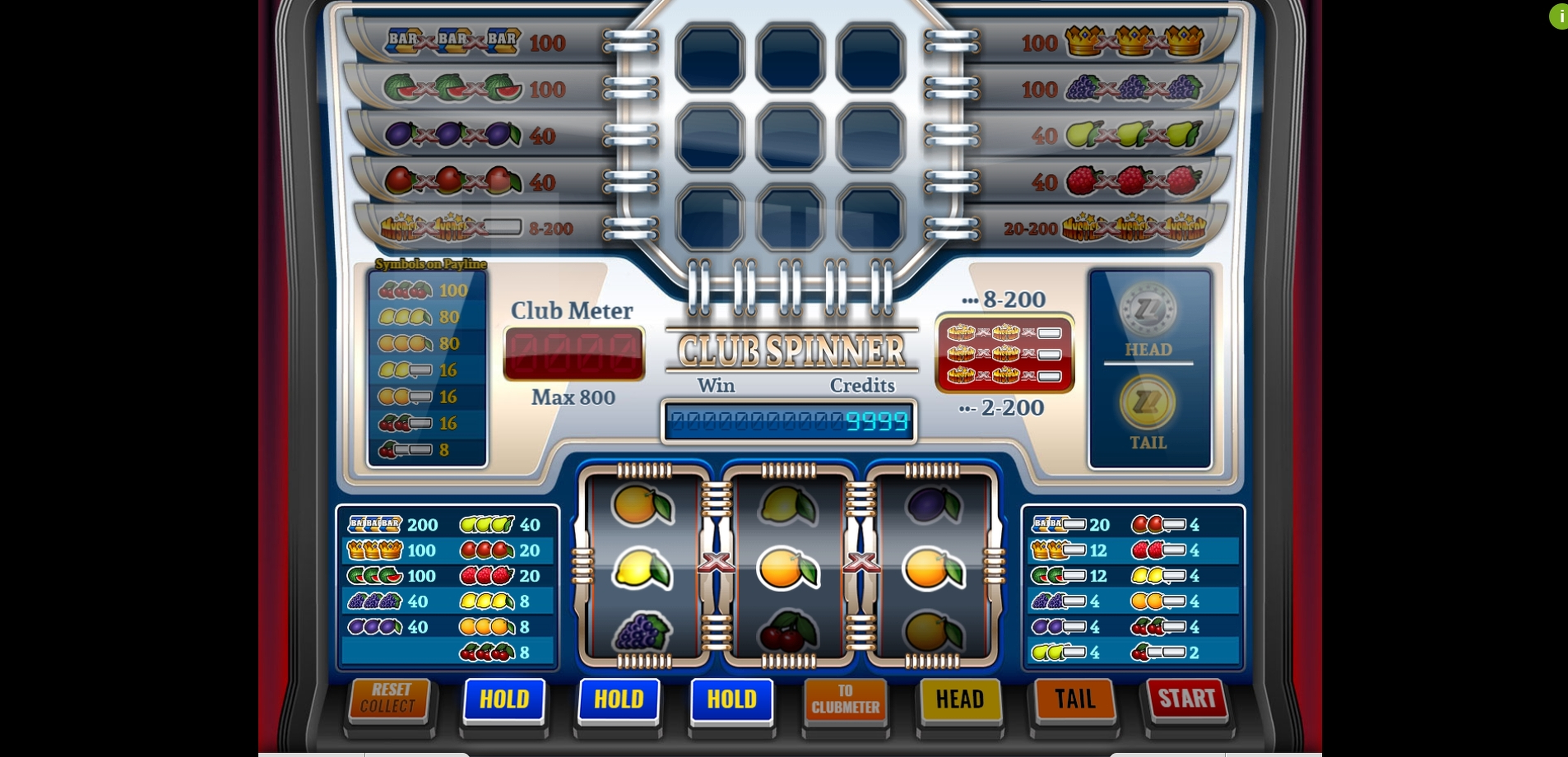 Reels in Club Spinner Slot Game by Imagina