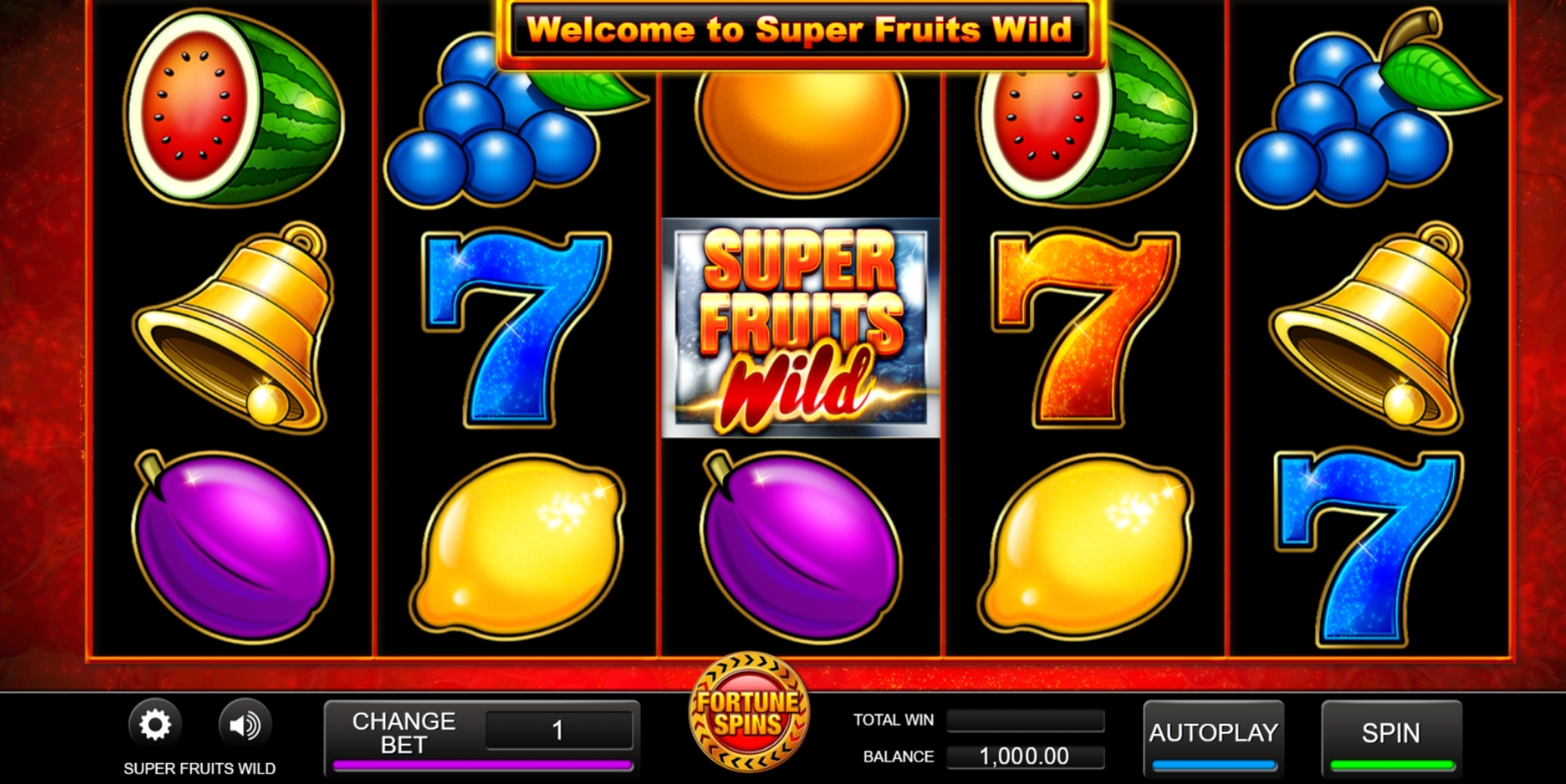 Reels in Super Fruits Wild Slot Game by Inspired Gaming