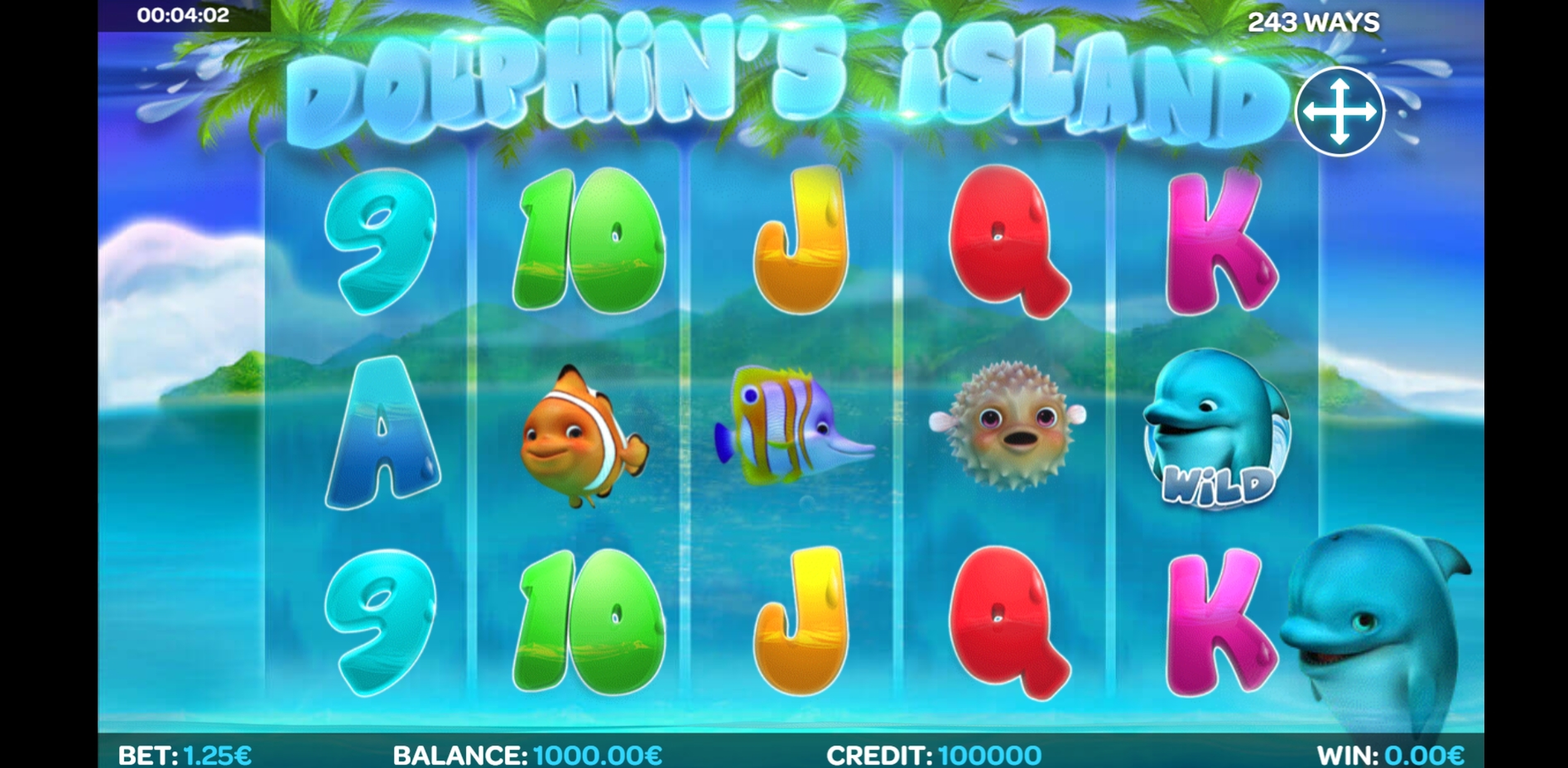 Reels in Dolphin's Island Slot Game by iSoftBet