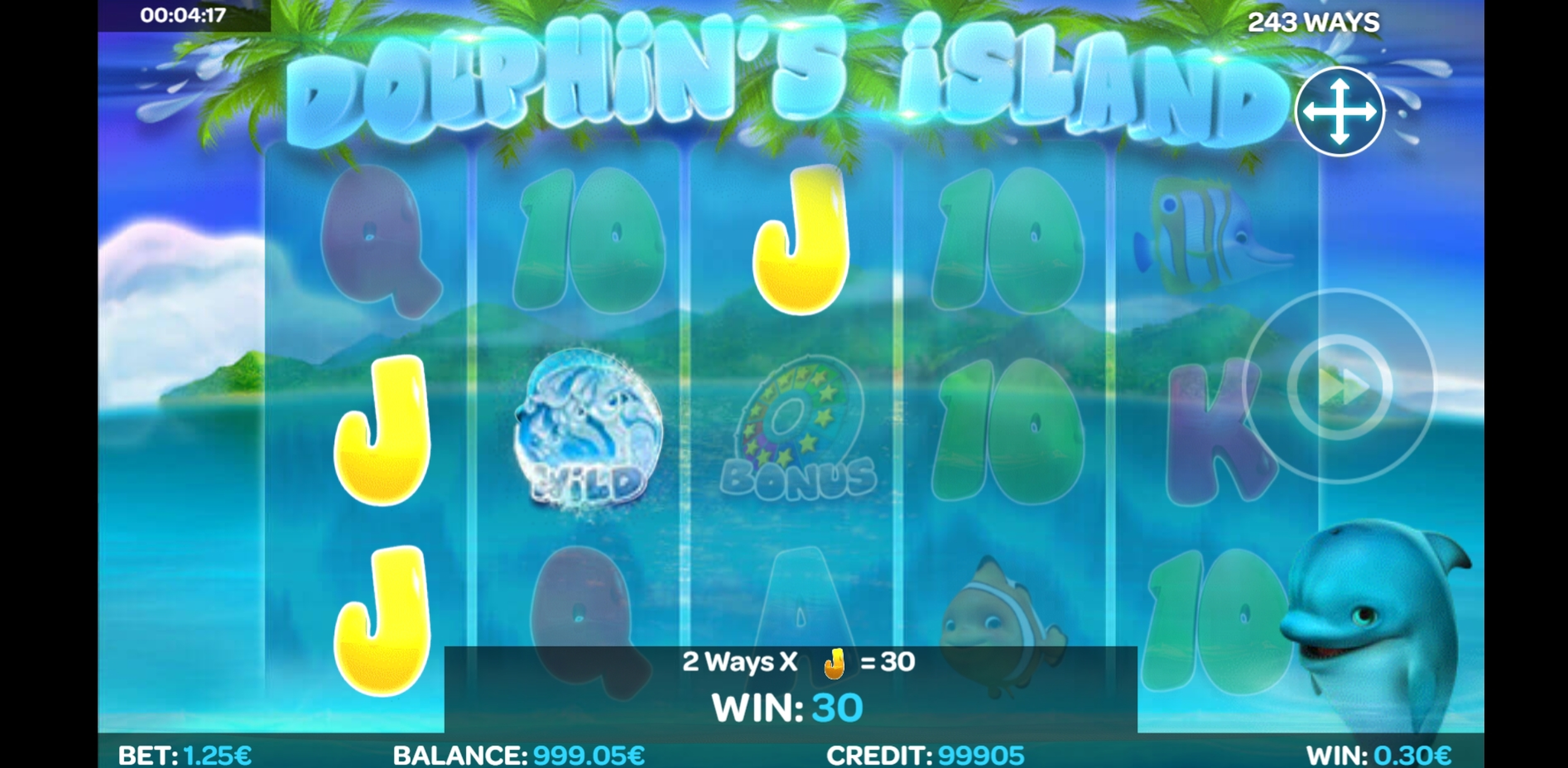 Win Money in Dolphin's Island Free Slot Game by iSoftBet