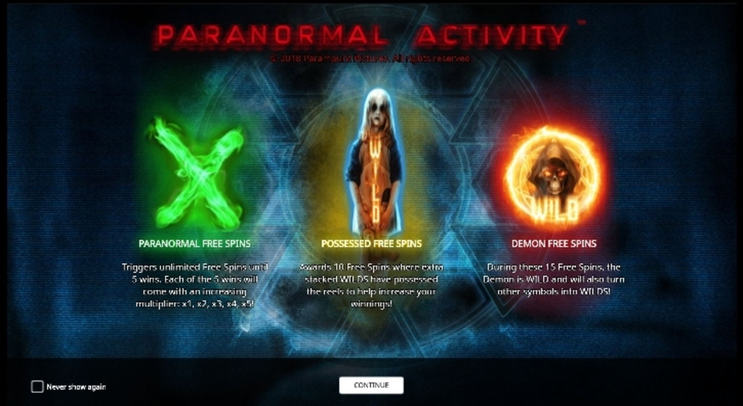 Play Paranormal Activity Free Casino Slot Game by iSoftBet