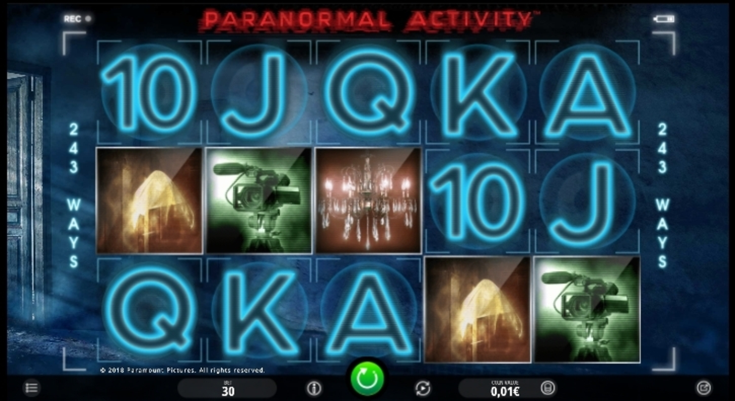 Reels in Paranormal Activity Slot Game by iSoftBet