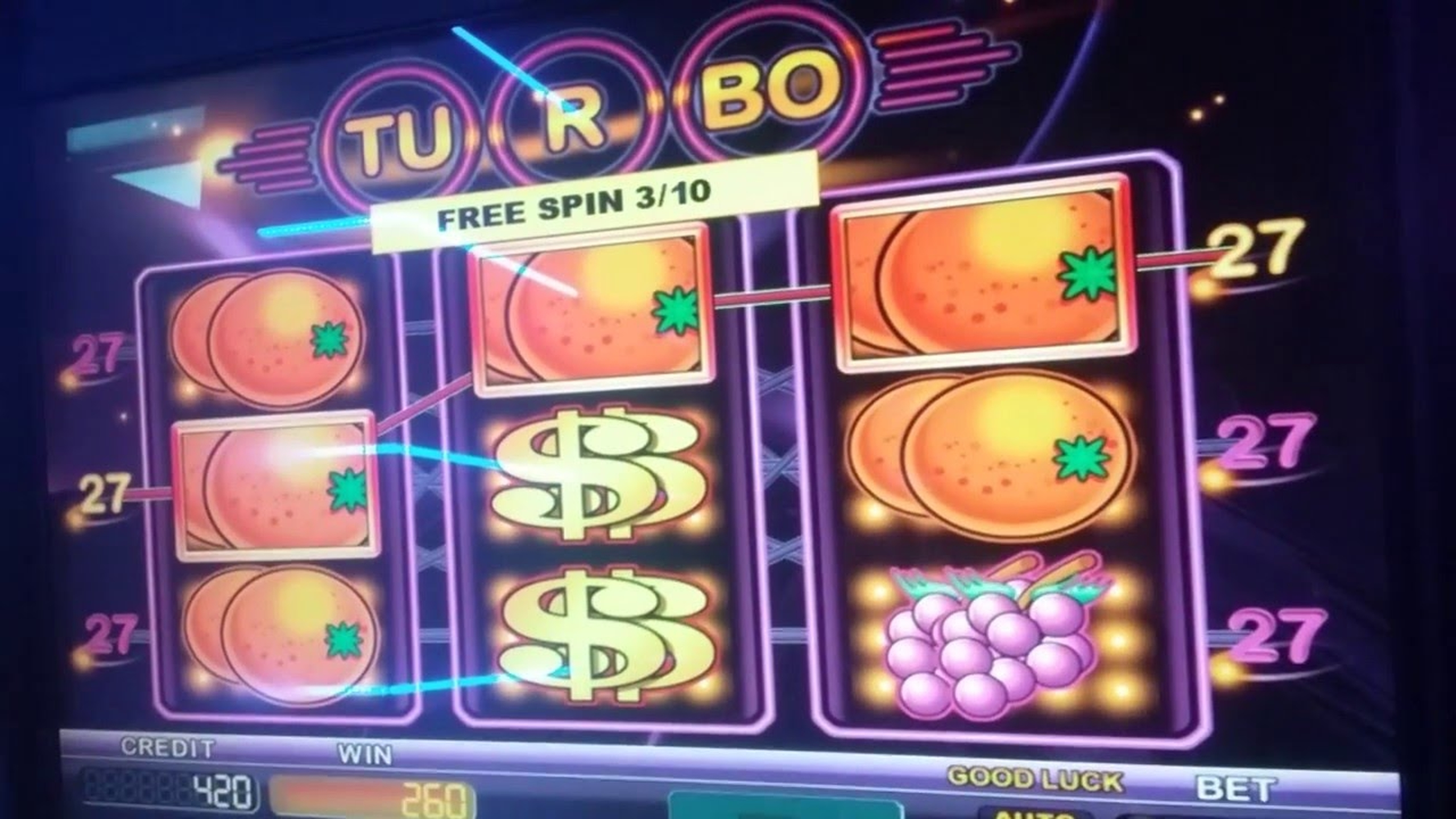The Turbo 27 Online Slot Demo Game by Kajot