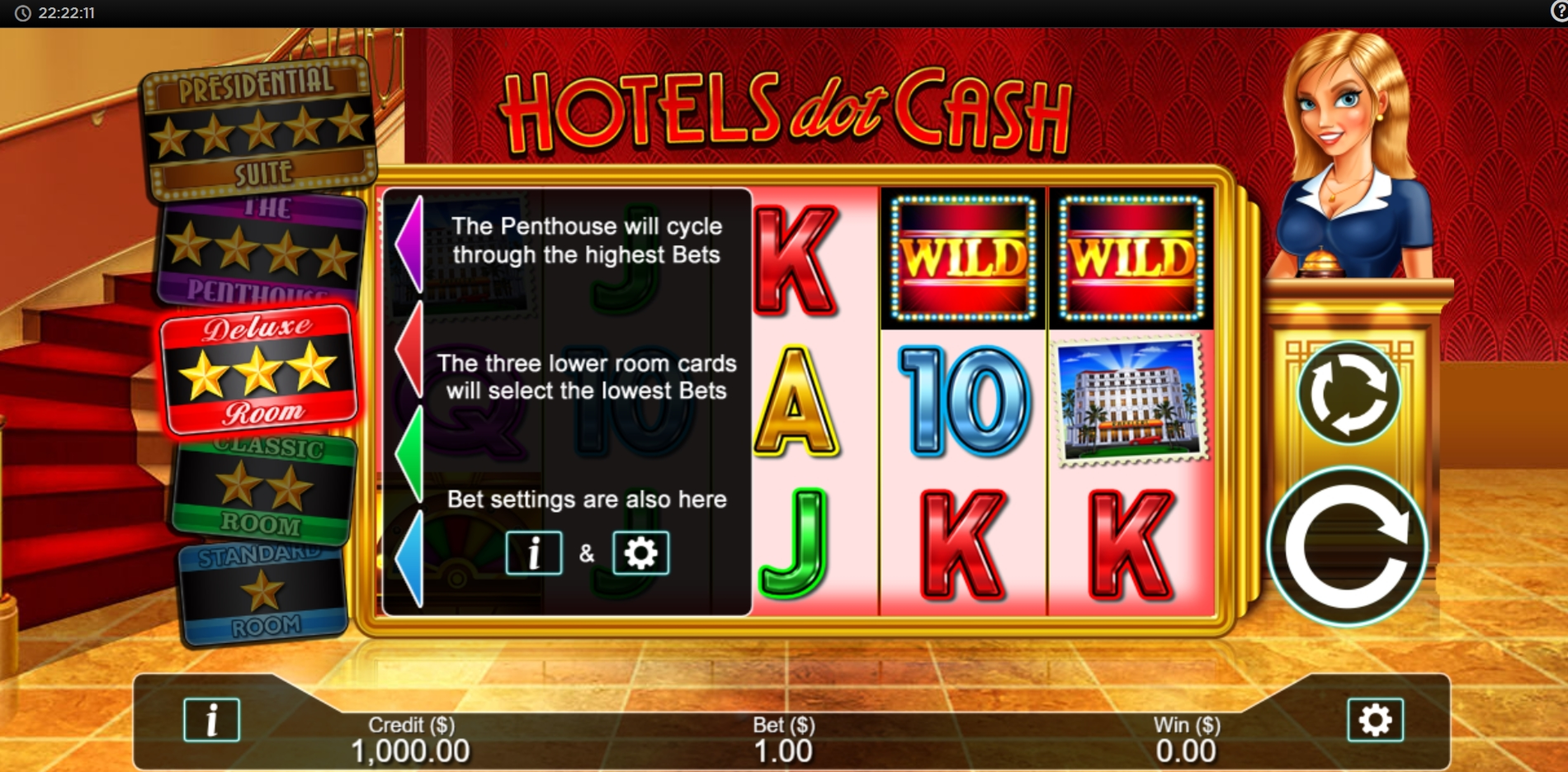 Reels in Hotels Dot Cash Slot Game by Live 5 Gaming