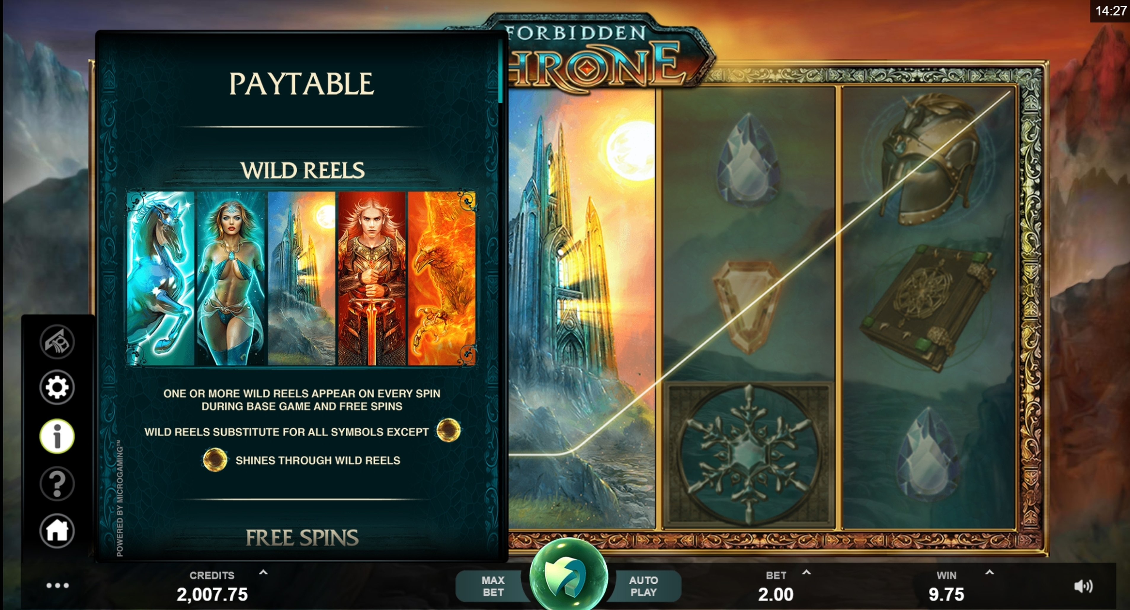 Info of Forbidden Throne Slot Game by MahiGaming