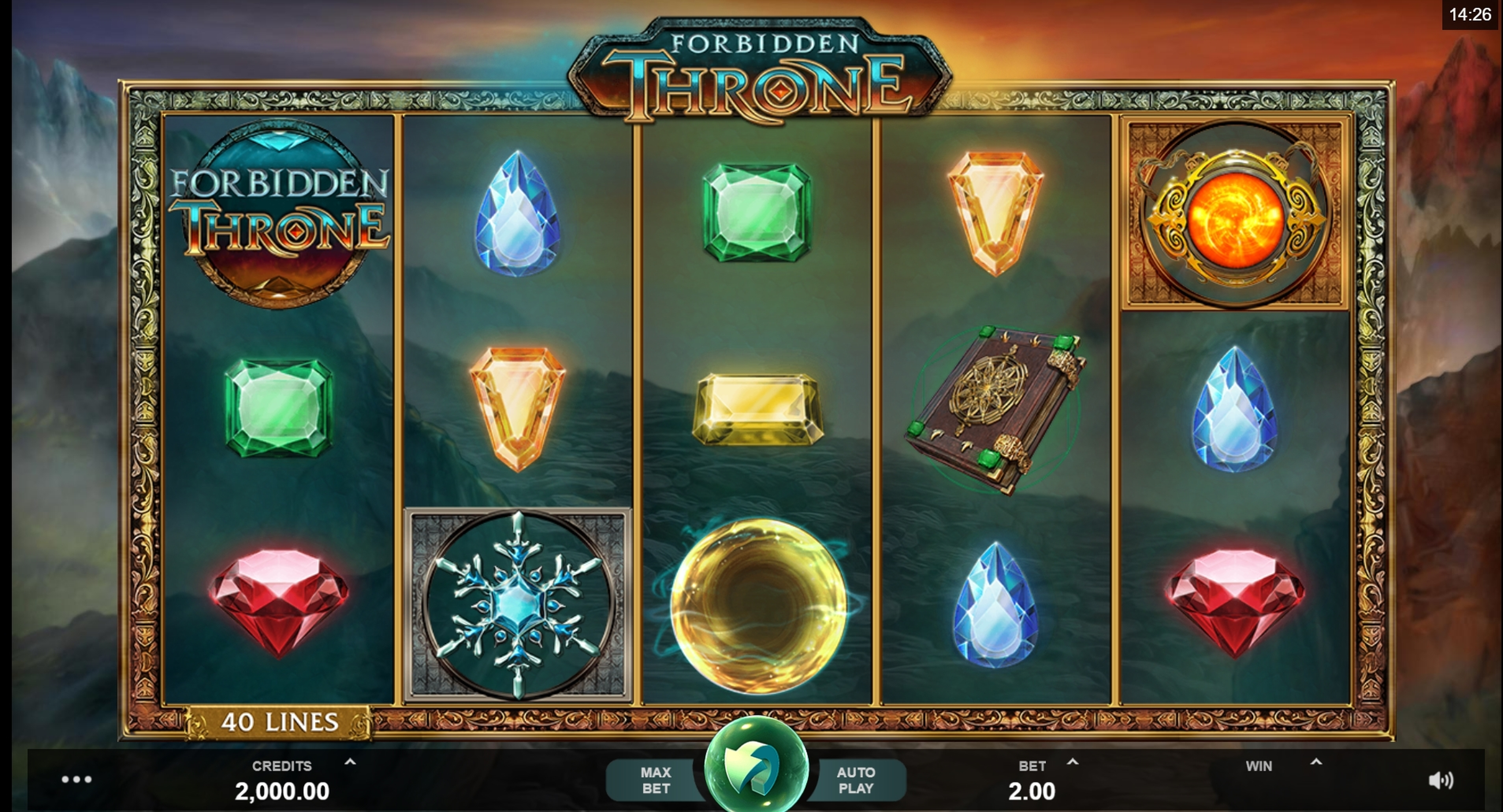 Reels in Forbidden Throne Slot Game by MahiGaming