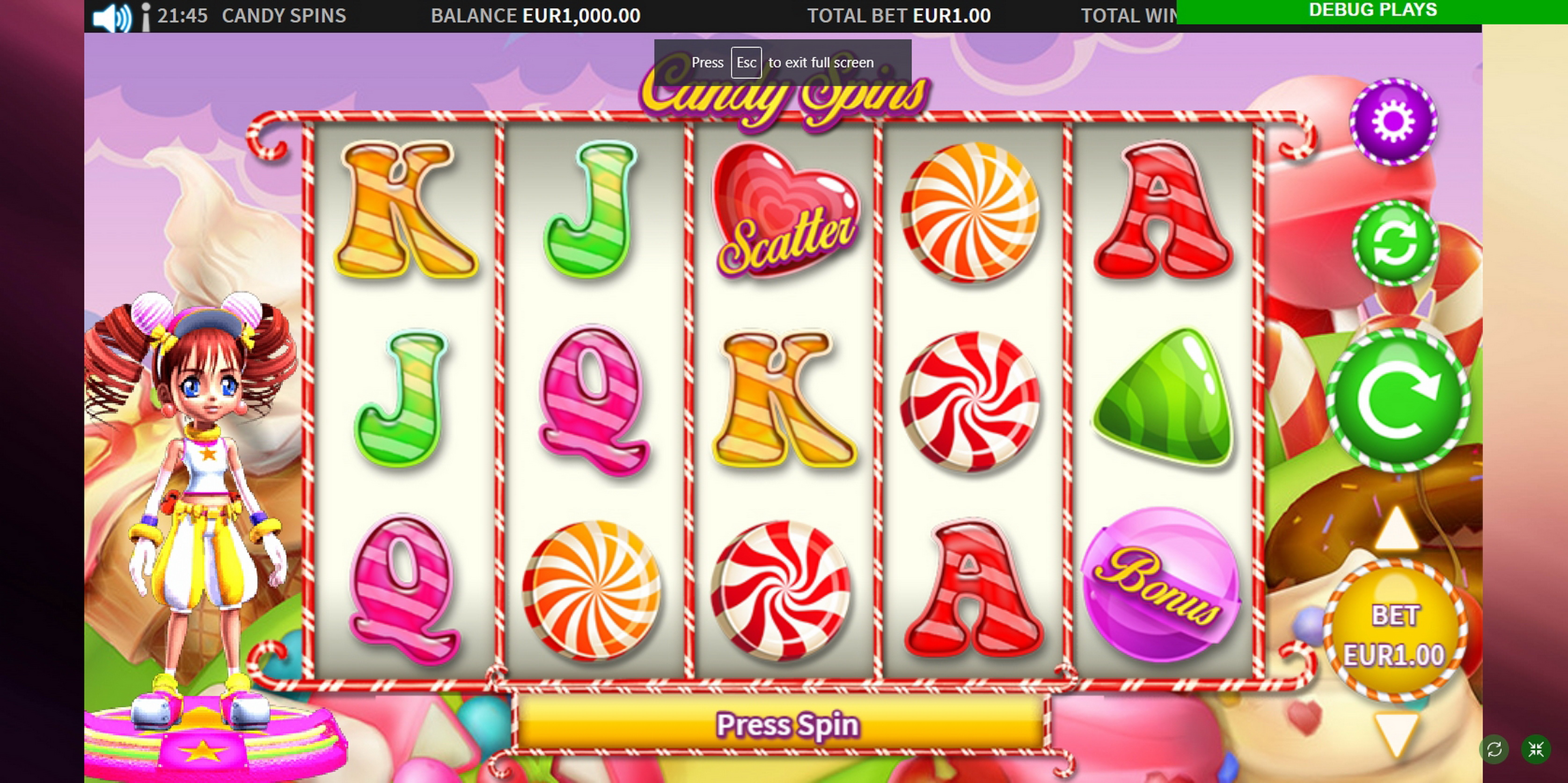 Reels in Candy Spins Slot Game by MetaGU