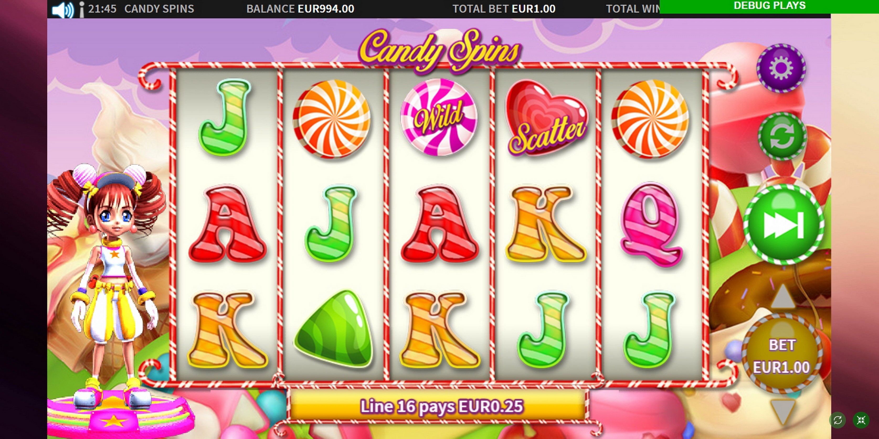 Win Money in Candy Spins Free Slot Game by MetaGU