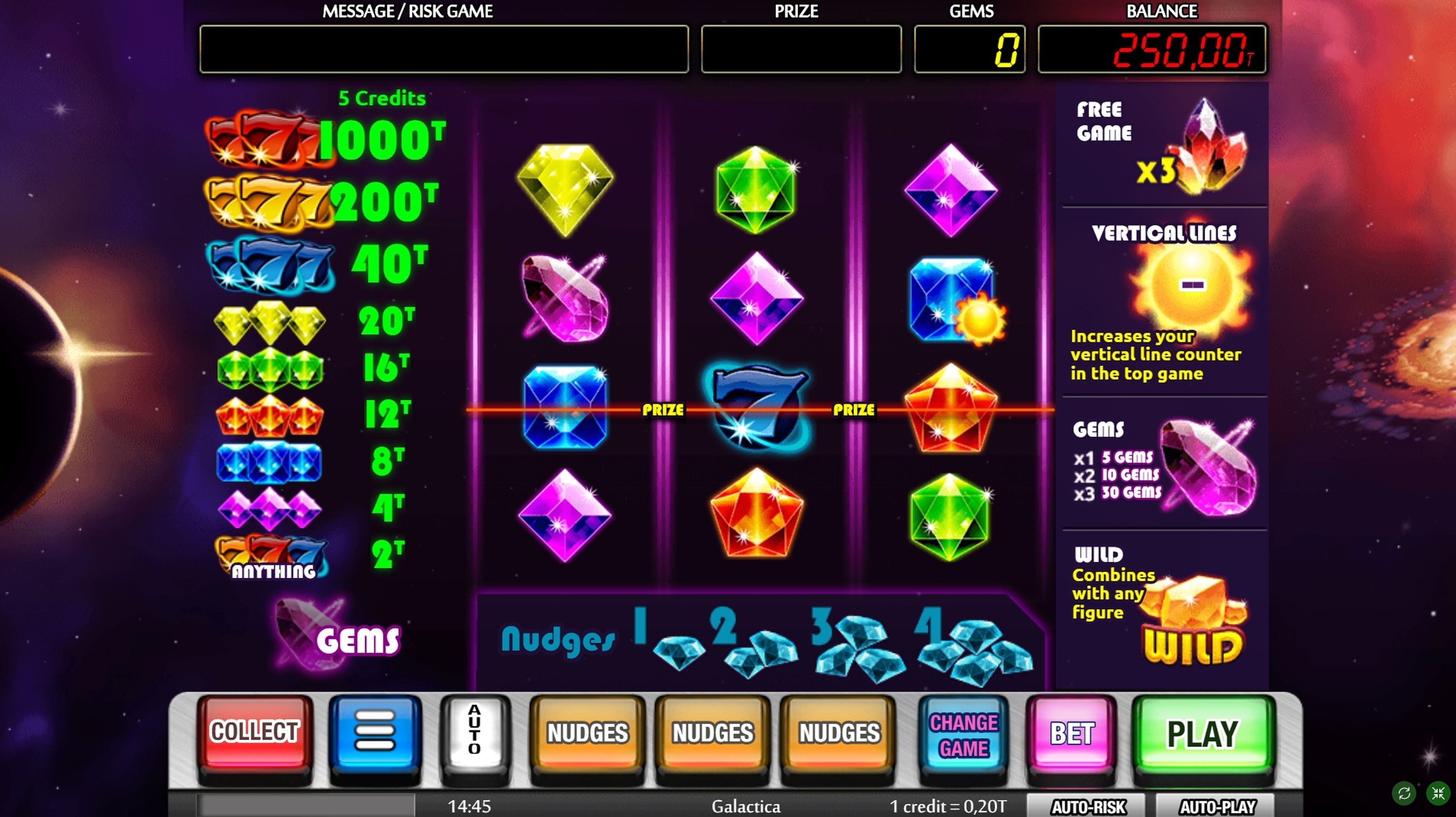 Reels in Galactica Slot Game by MGA