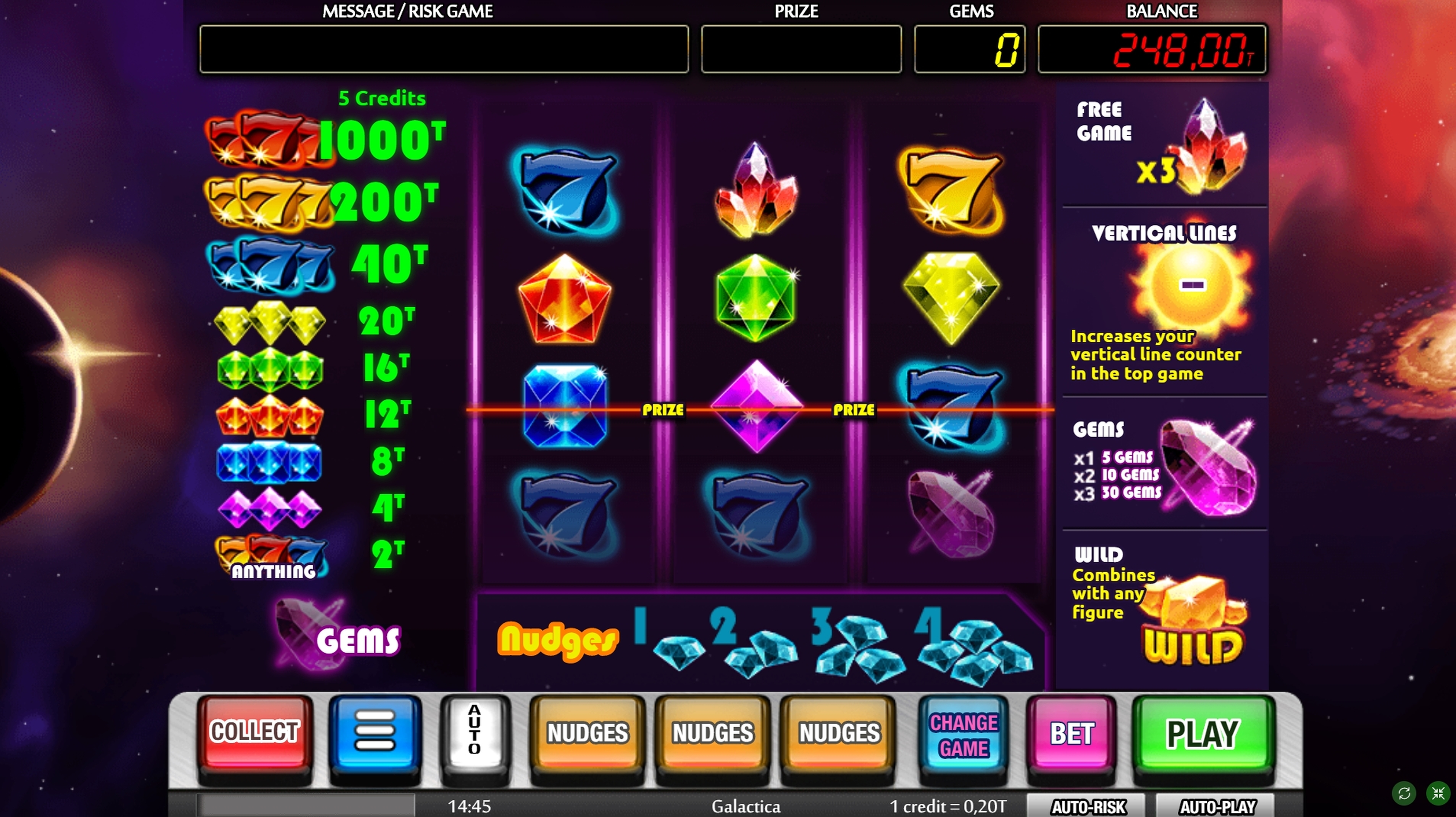 Win Money in Galactica Free Slot Game by MGA