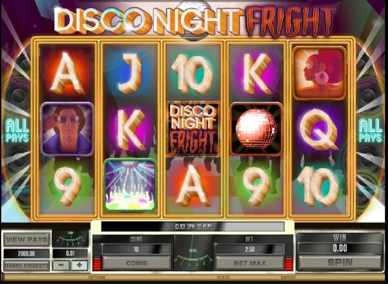 Reels in Disco Night Fright Slot Game by Microgaming