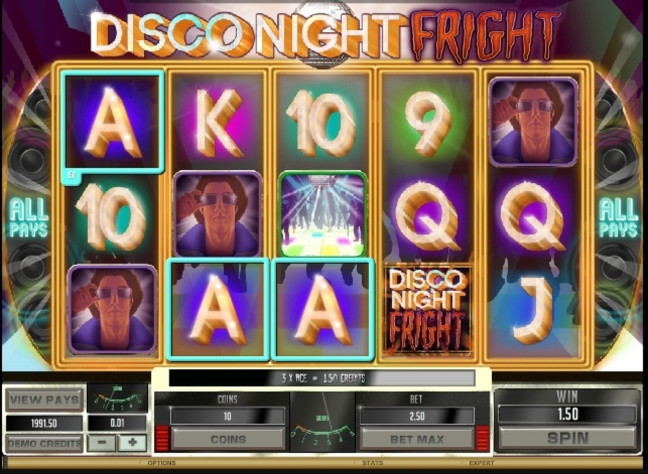 Win Money in Disco Night Fright Free Slot Game by Microgaming