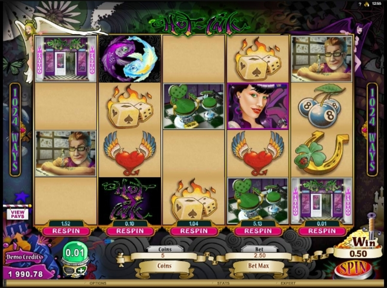 Win Money in Hot Ink Free Slot Game by Microgaming