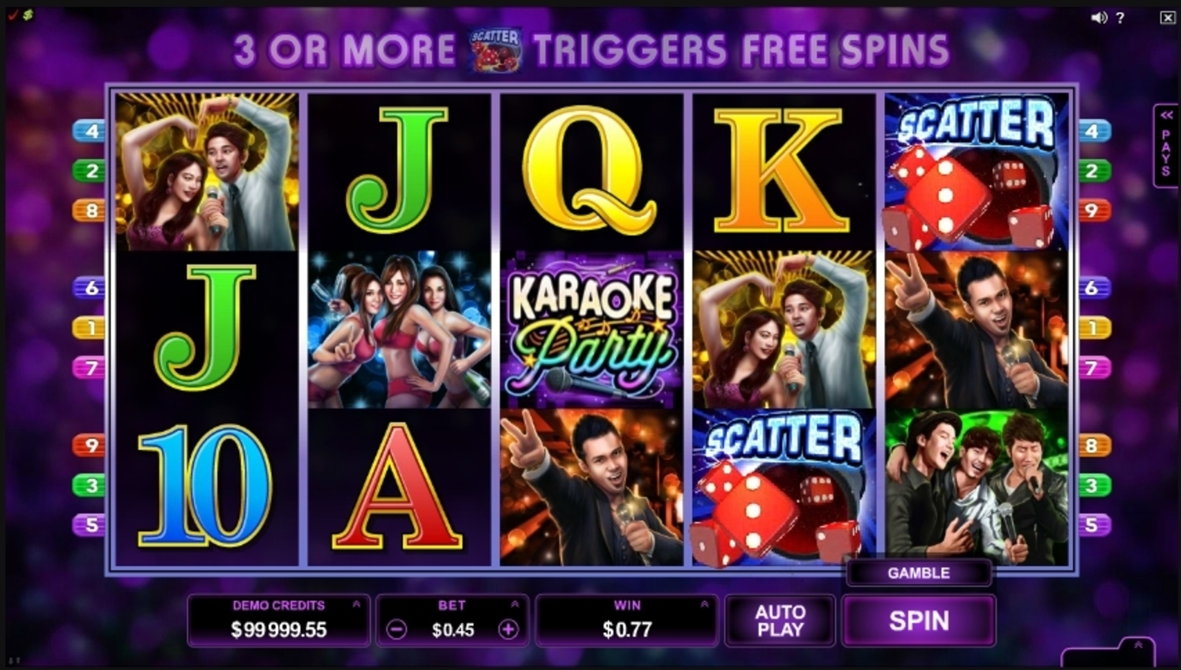 Win Money in Karaoke Party Free Slot Game by Microgaming