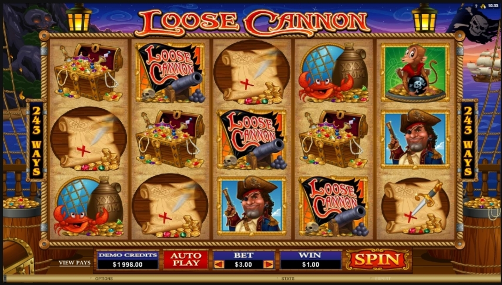 Win Money in Loose Cannon Free Slot Game by Microgaming