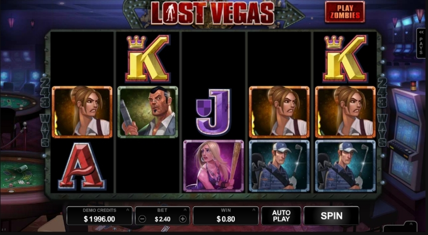 Win Money in Lost Vegas Free Slot Game by Microgaming
