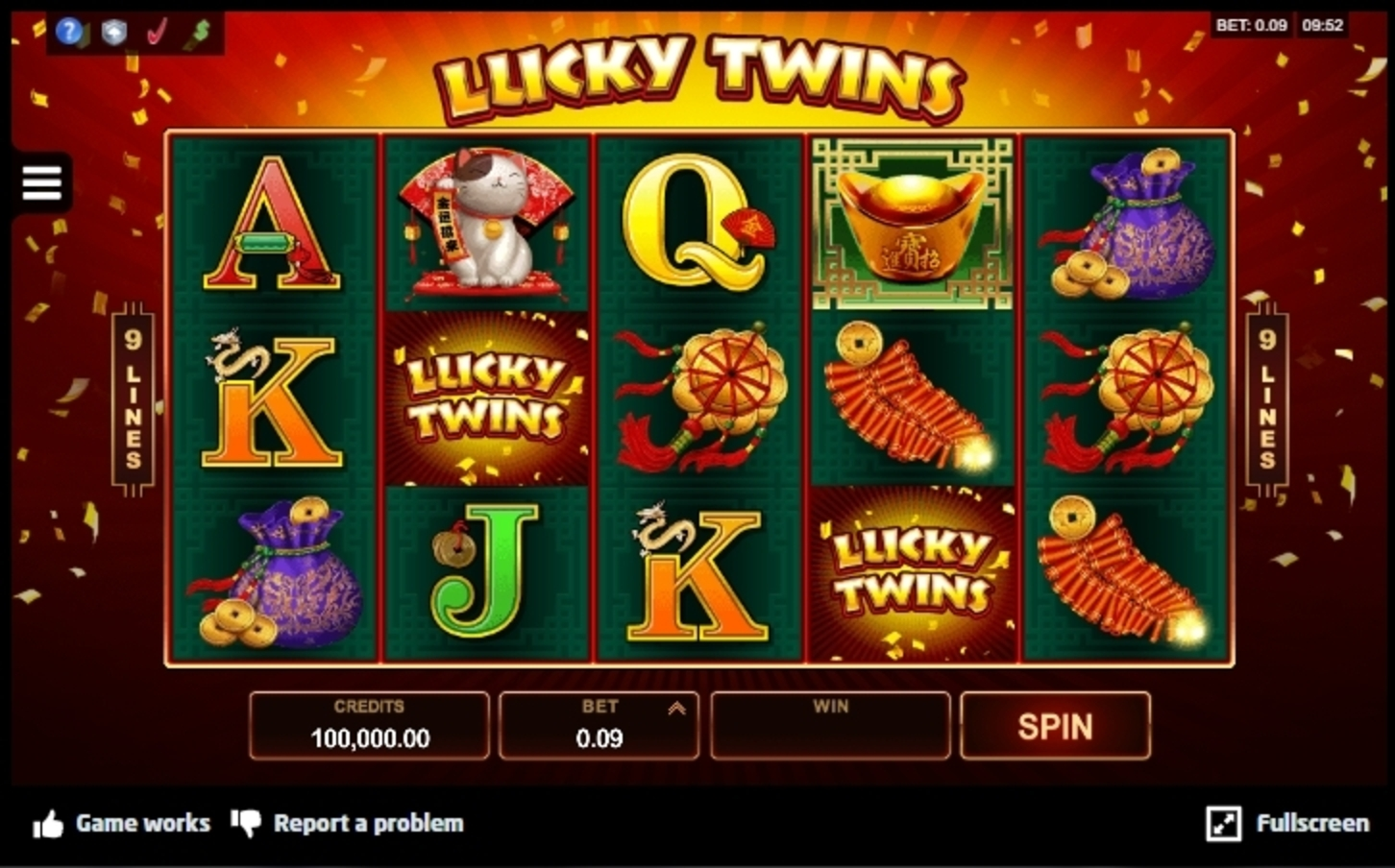 Win Money in Lucky Twins Free Slot Game by Microgaming
