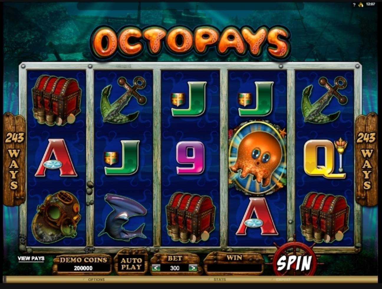 Reels in Octopays Slot Game by Microgaming