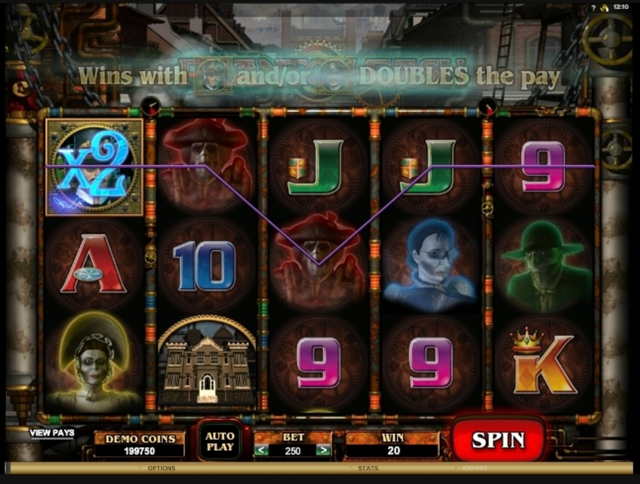 Win Money in Phantom Cash Free Slot Game by Microgaming