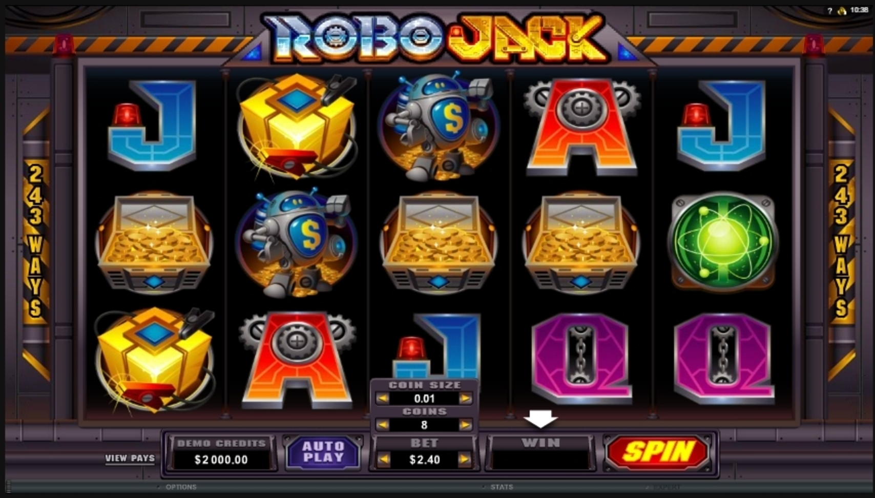 Reels in Robo Jack Slot Game by Microgaming