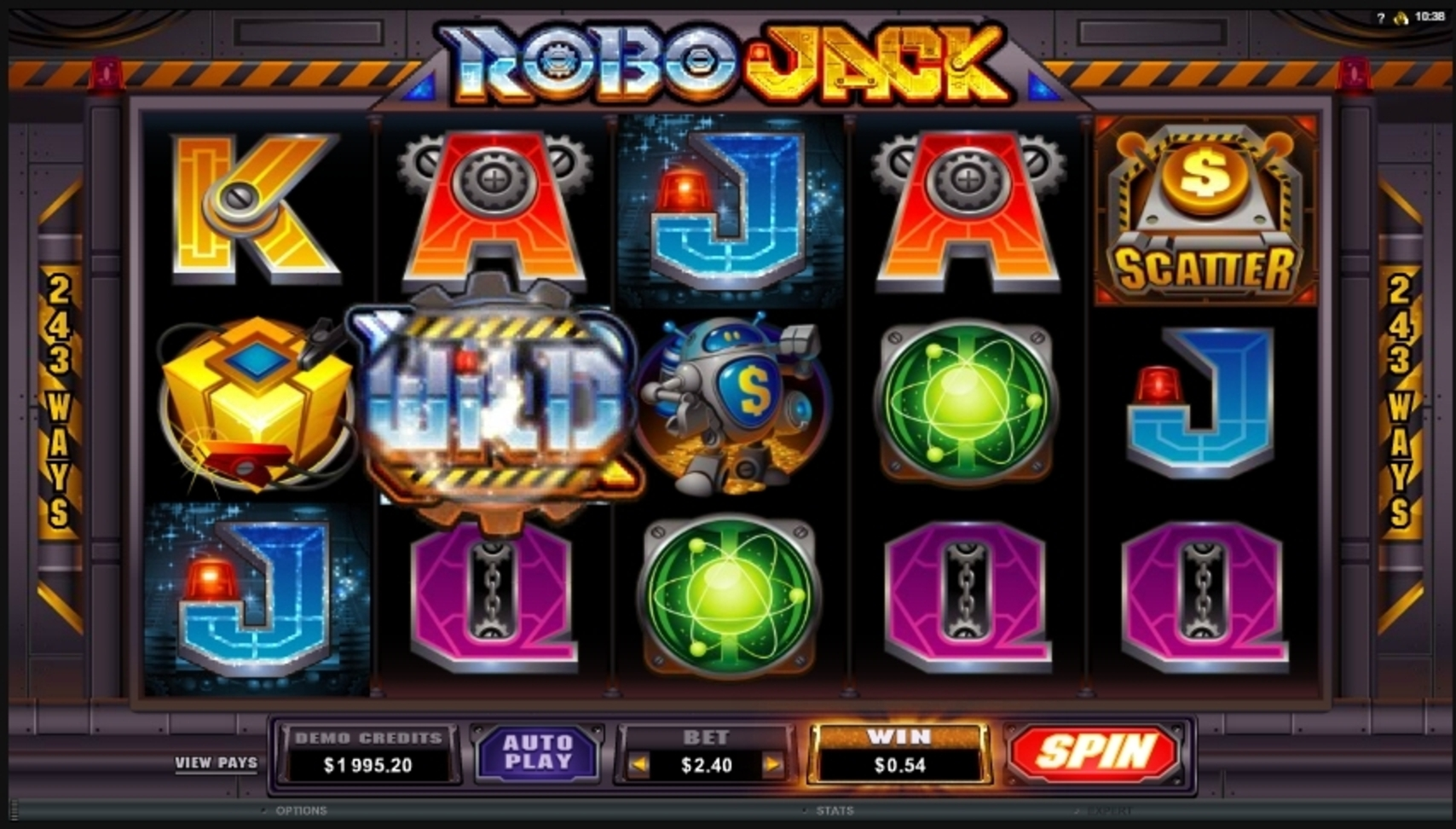 Win Money in Robo Jack Free Slot Game by Microgaming
