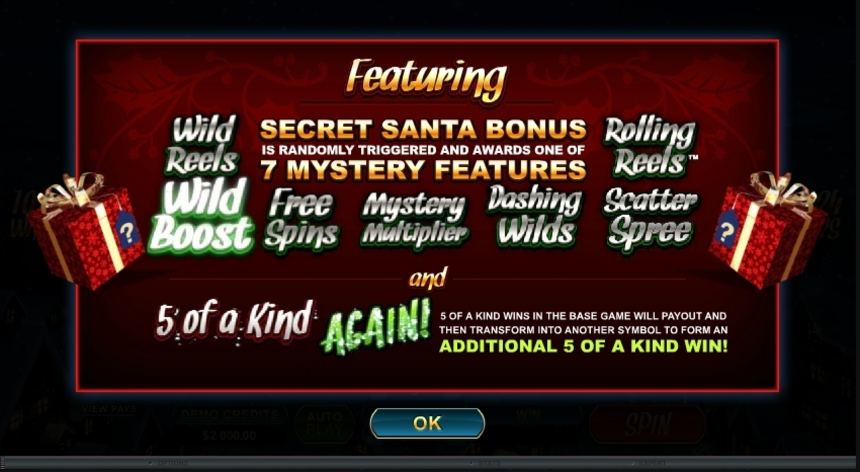 Play Secret Santa Free Casino Slot Game by Microgaming