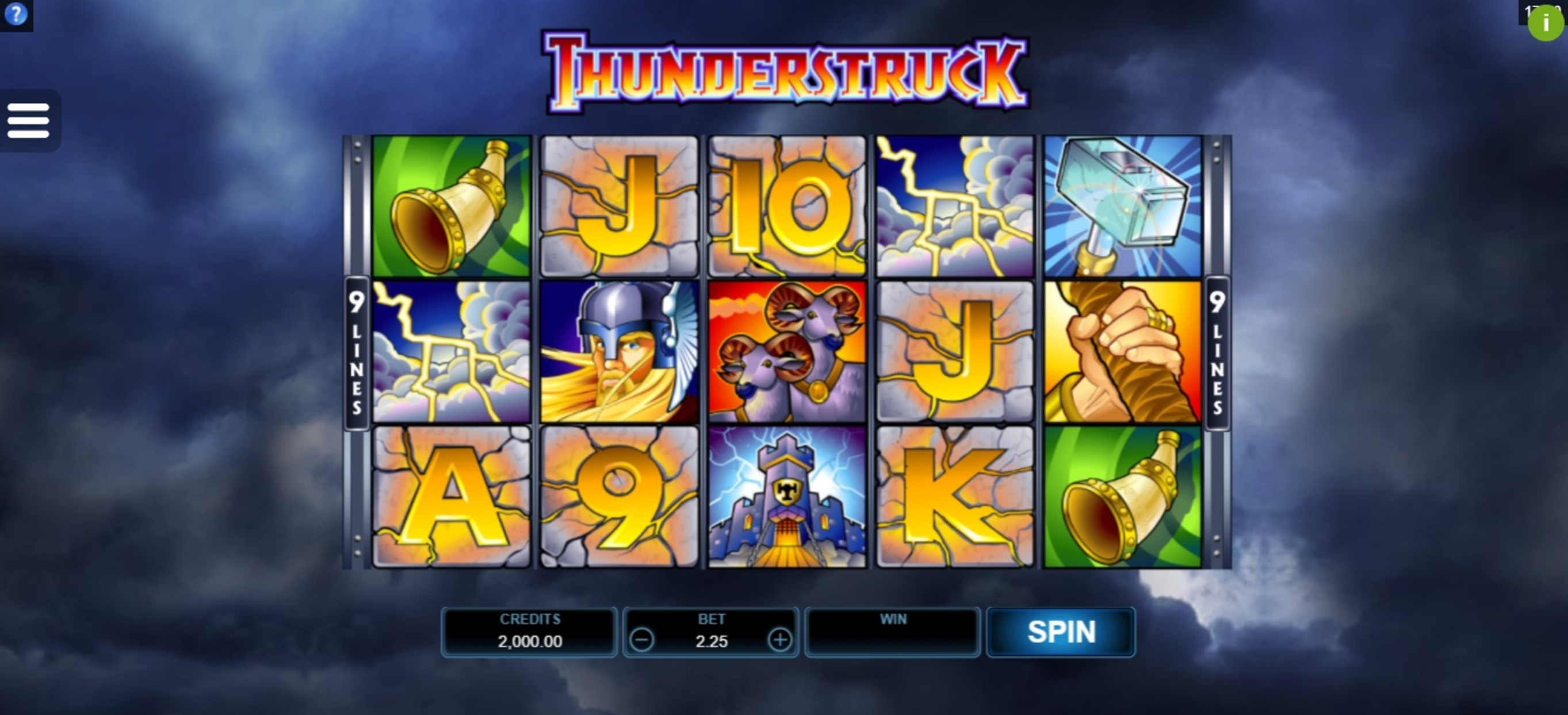 Reels in Thunderstruck Slot Game by Microgaming