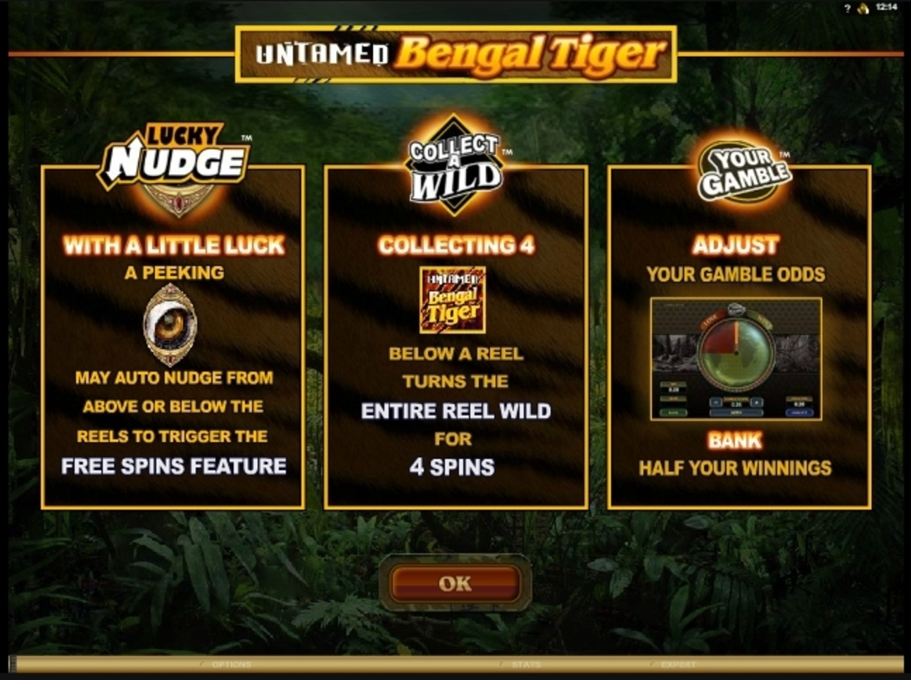Play Untamed Bengal Tiger Free Casino Slot Game by Microgaming