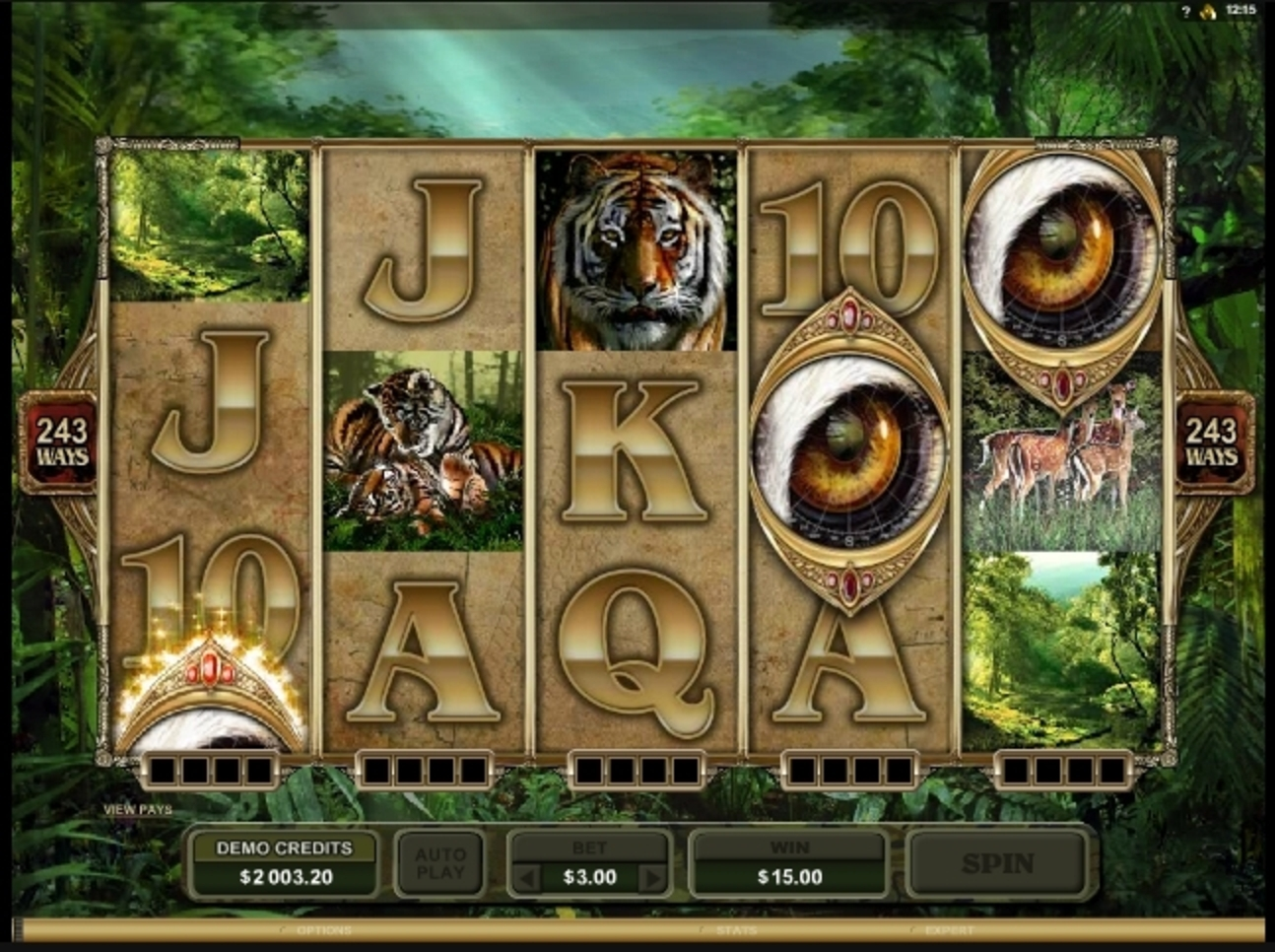Win Money in Untamed Bengal Tiger Free Slot Game by Microgaming