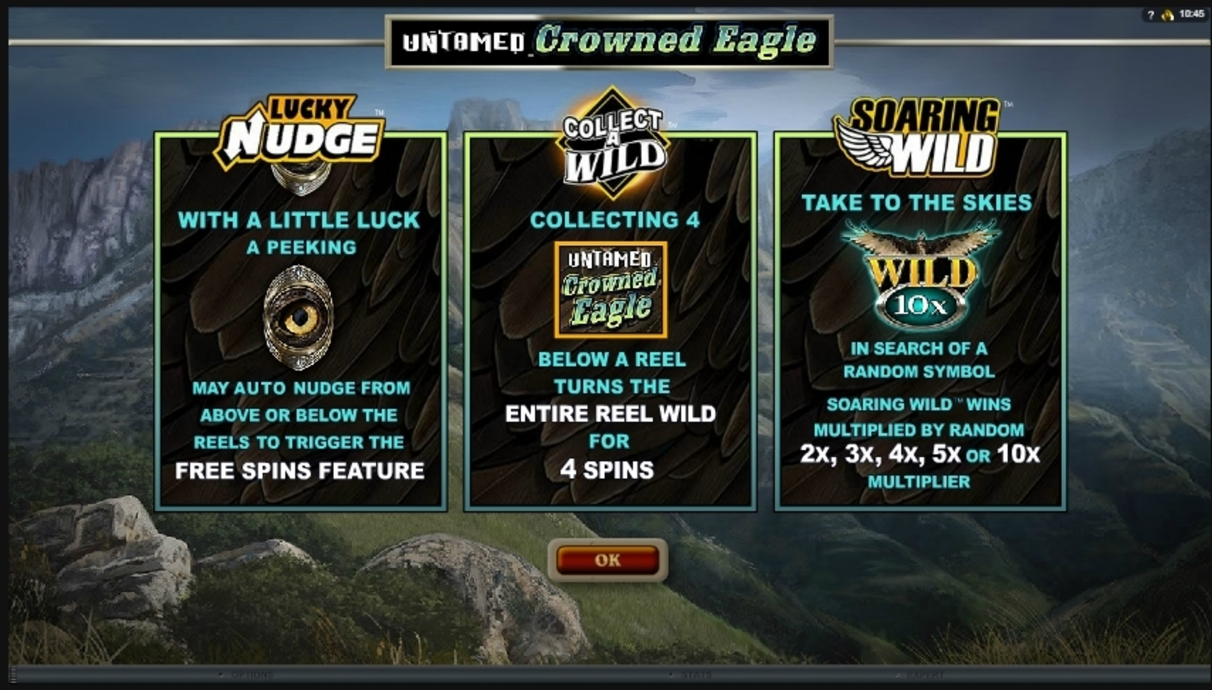 Play Untamed Crowned Eagle Free Casino Slot Game by Microgaming