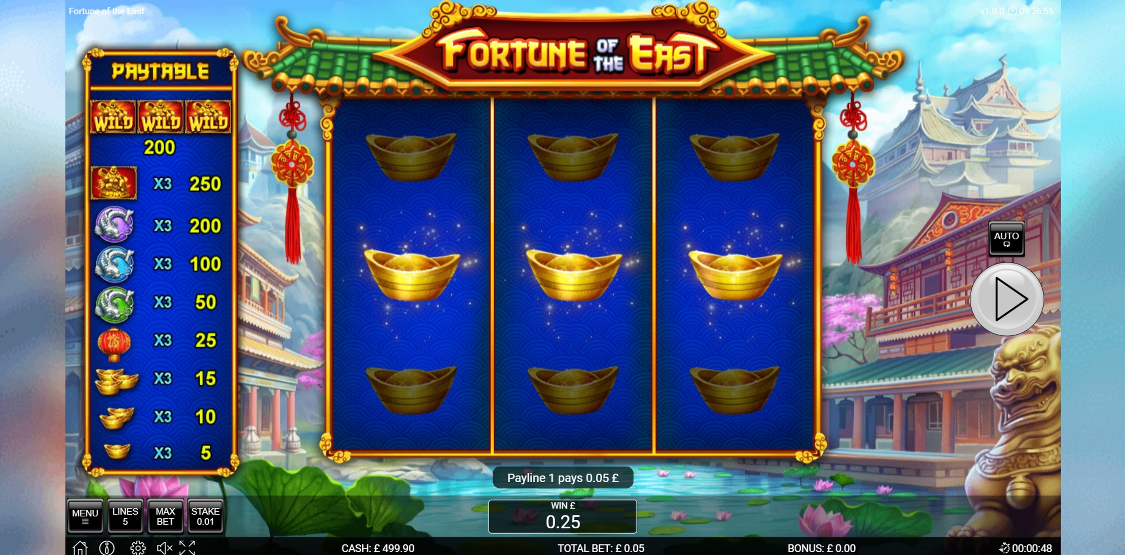 Win Money in Fortune of the East Free Slot Game by Nektan