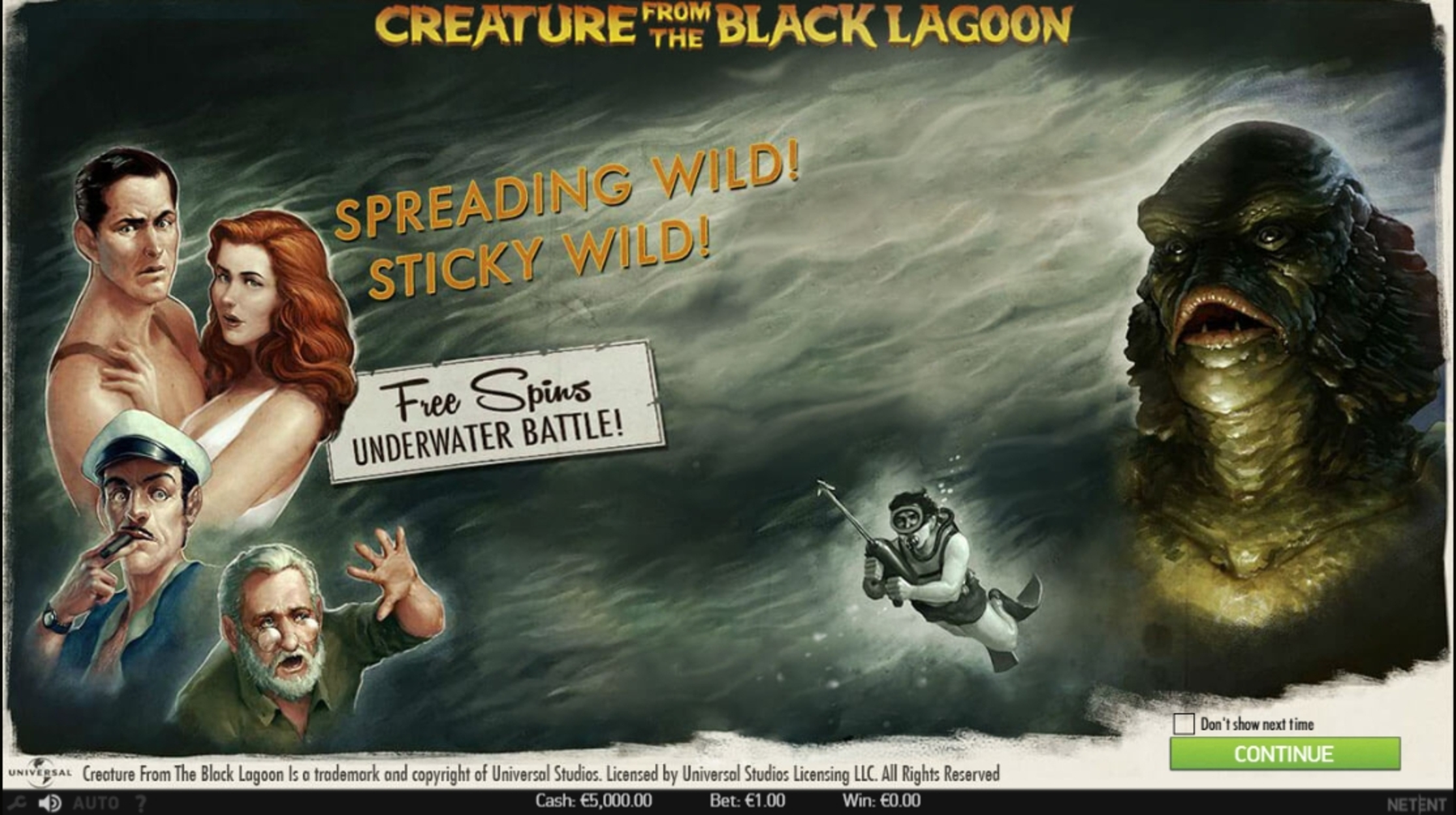 Play Creature from the Black Lagoon Free Casino Slot Game by NetEnt