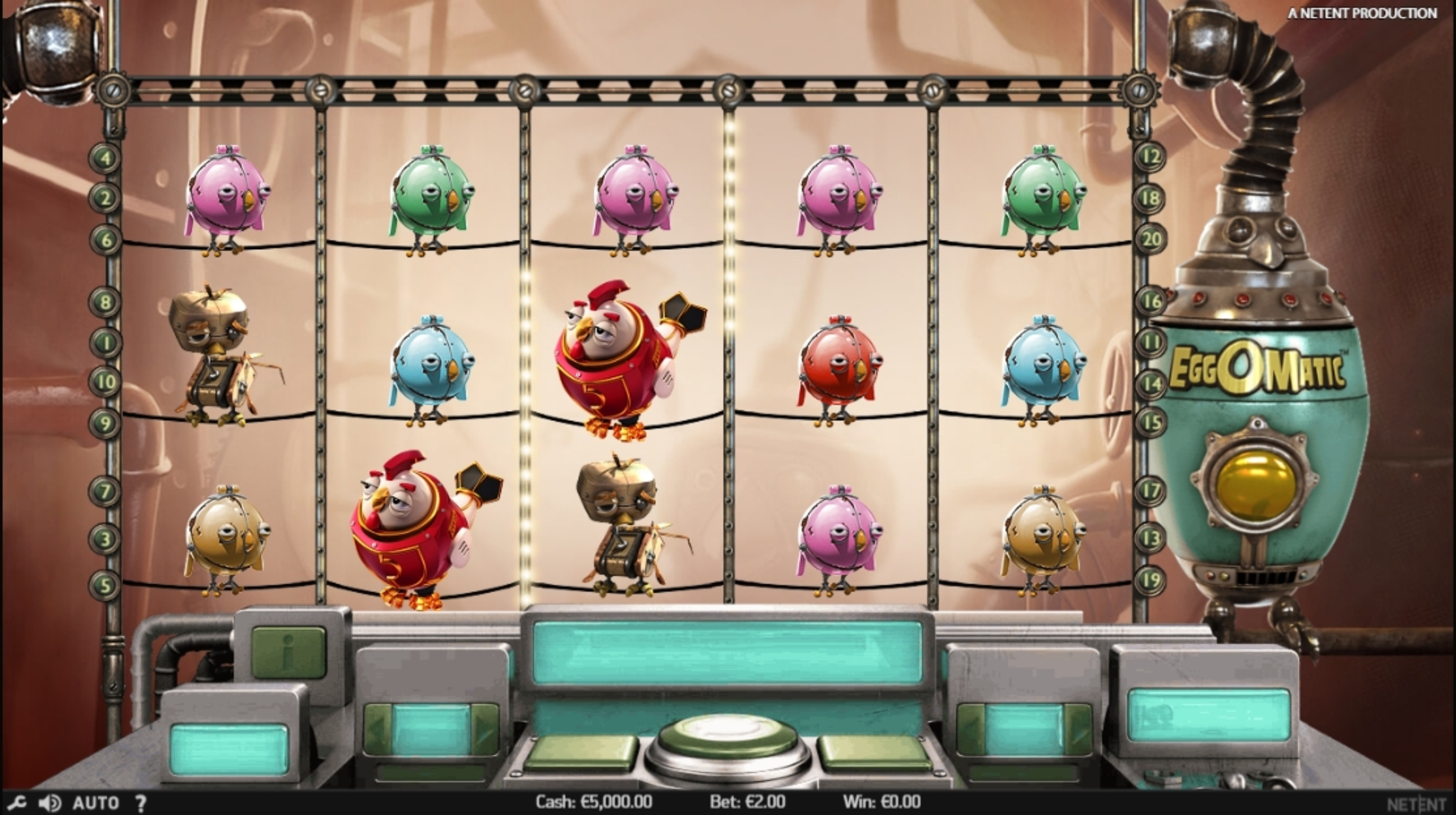 Reels in Eggomatic Slot Game by NetEnt