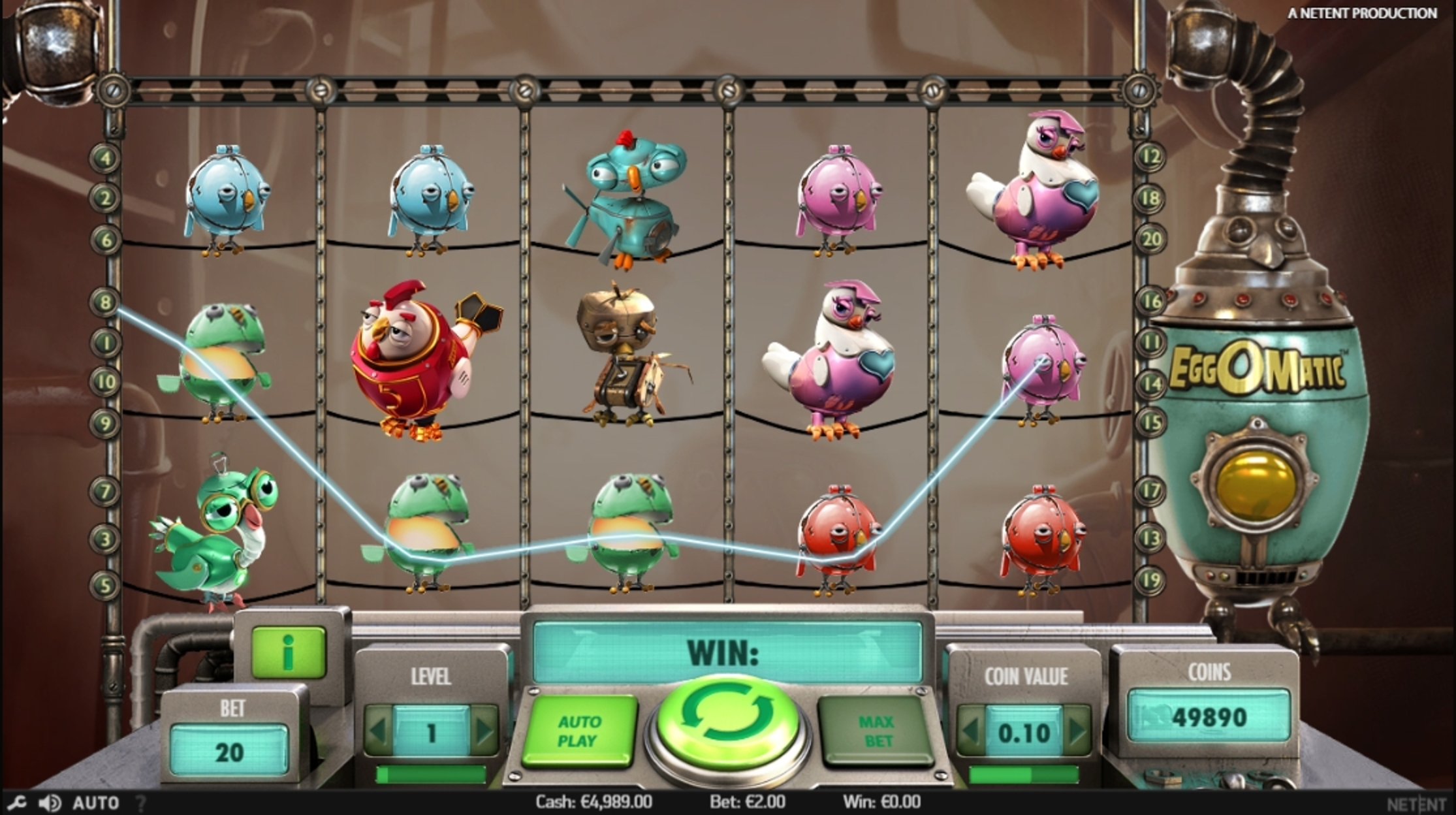 Win Money in Eggomatic Free Slot Game by NetEnt
