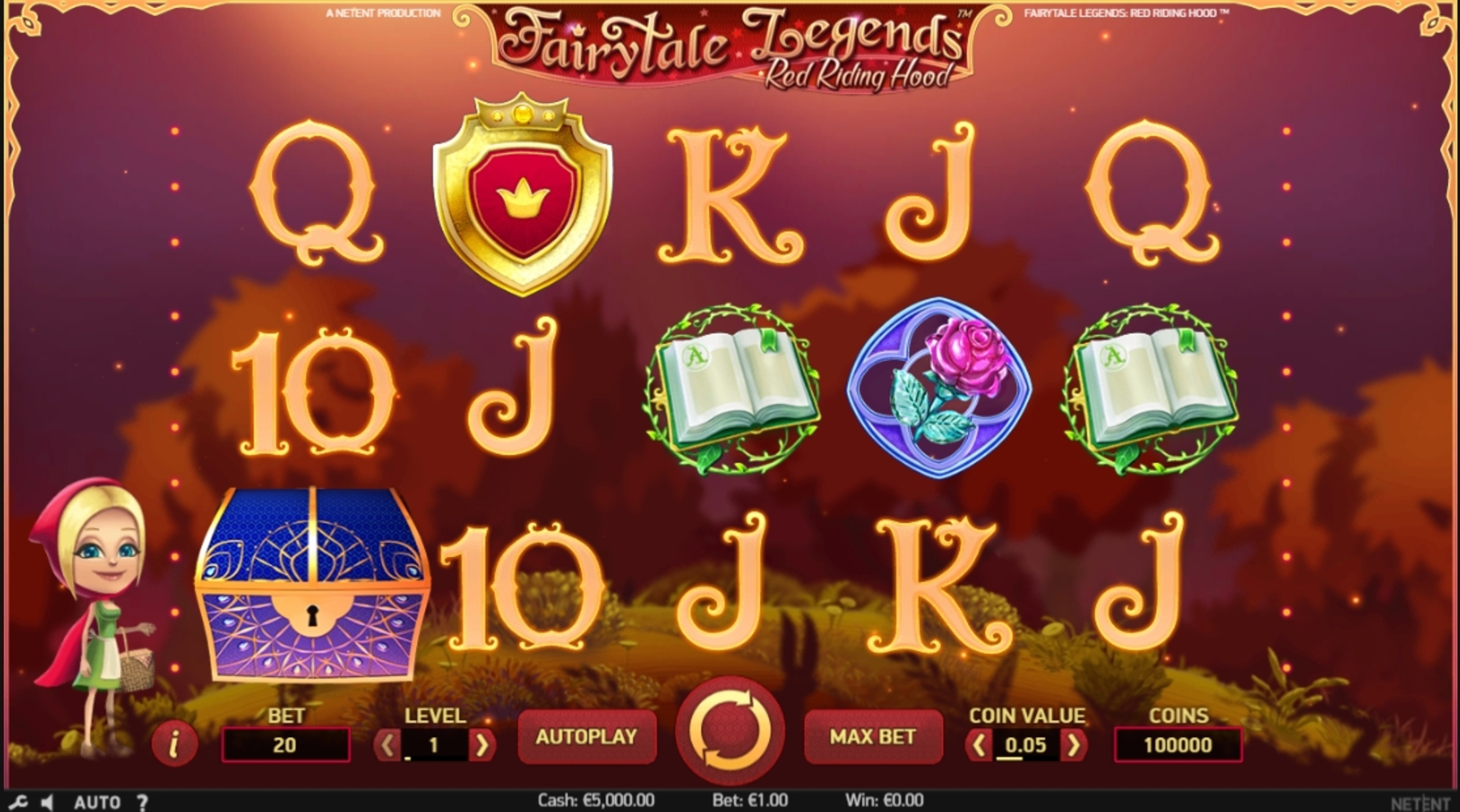 Reels in Fairytale Legends: Red Riding Hood Slot Game by NetEnt