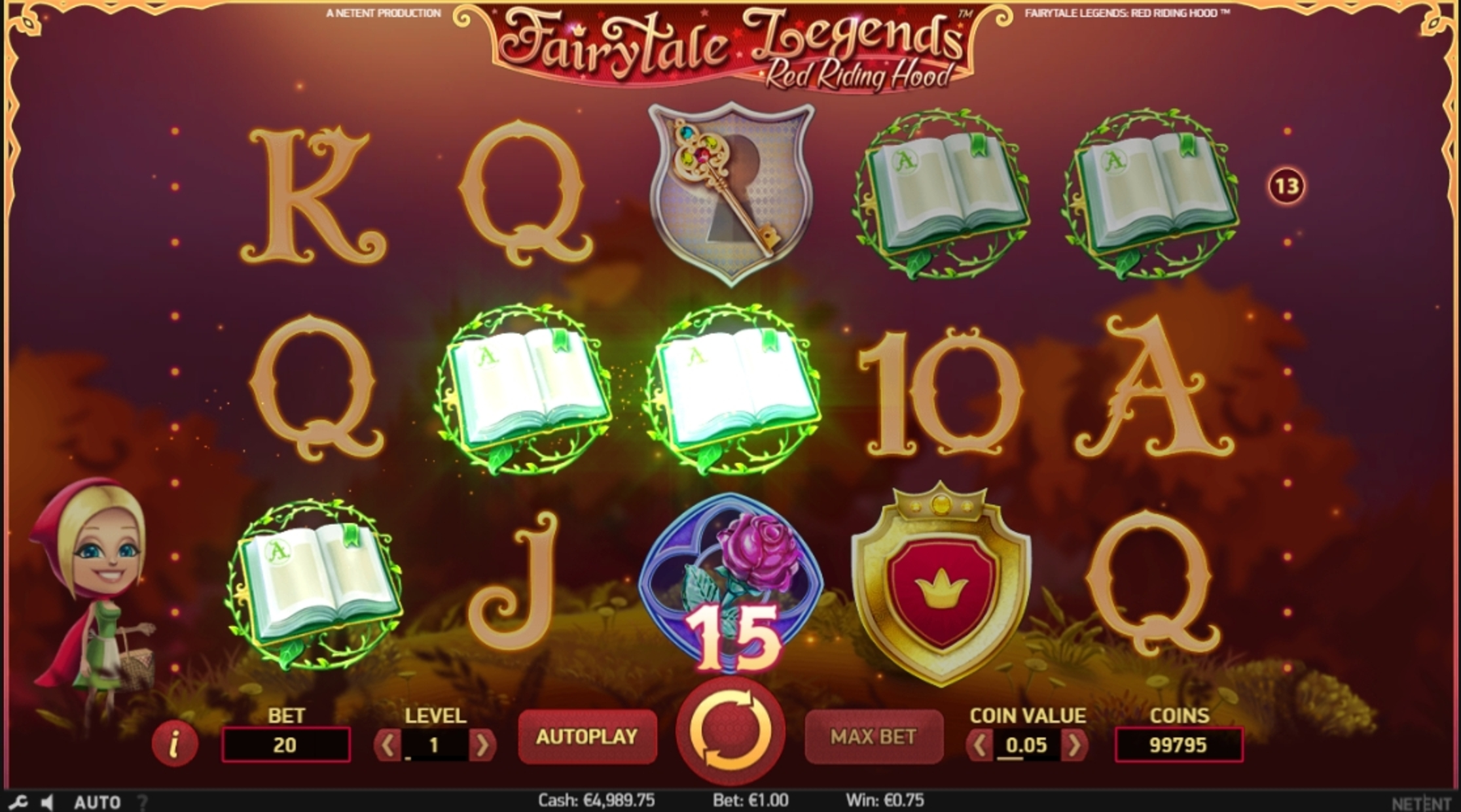 Win Money in Fairytale Legends: Red Riding Hood Free Slot Game by NetEnt