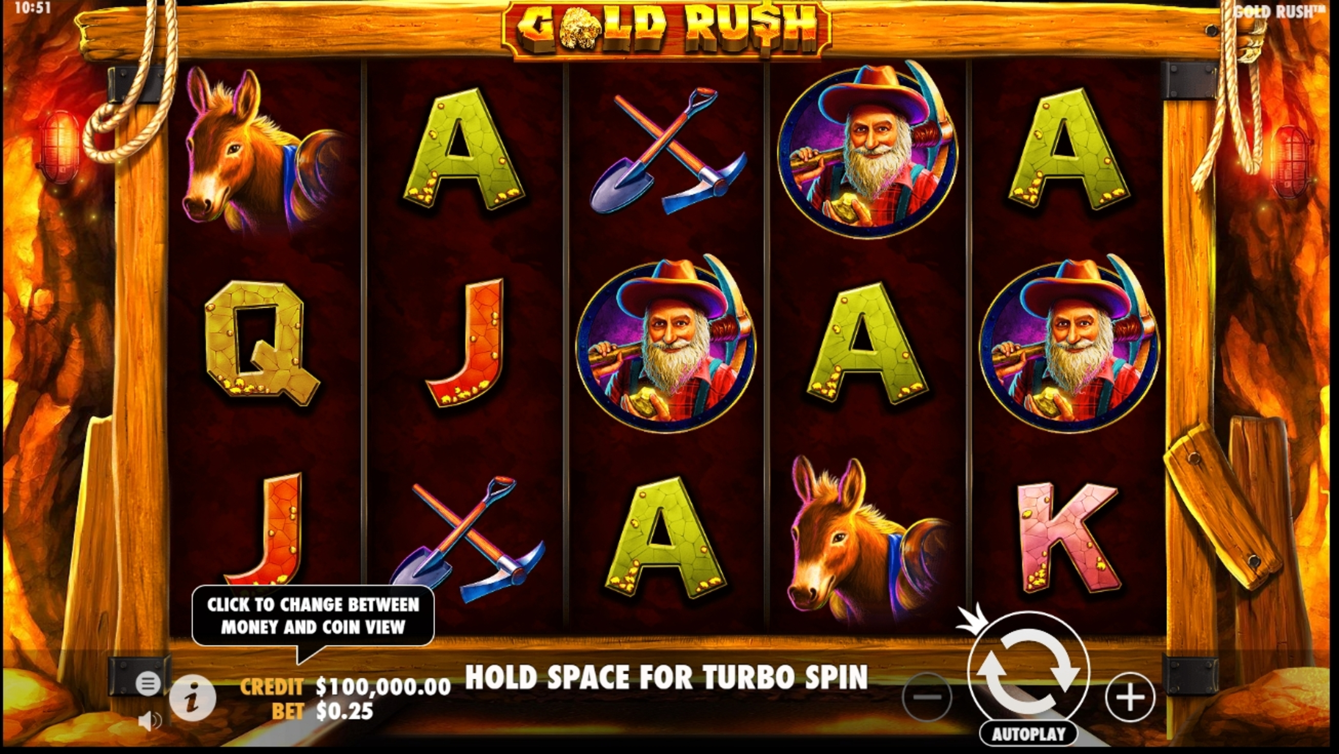 Reels in Gold Rush (NetEnt) Slot Game by NetEnt