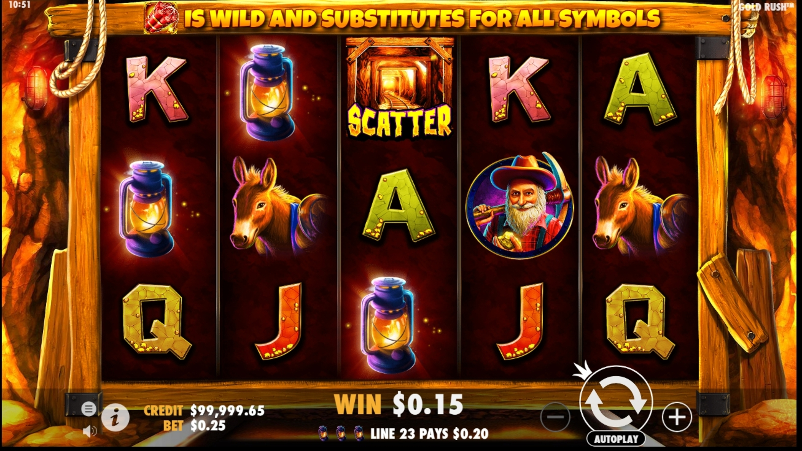 Win Money in Gold Rush (NetEnt) Free Slot Game by NetEnt