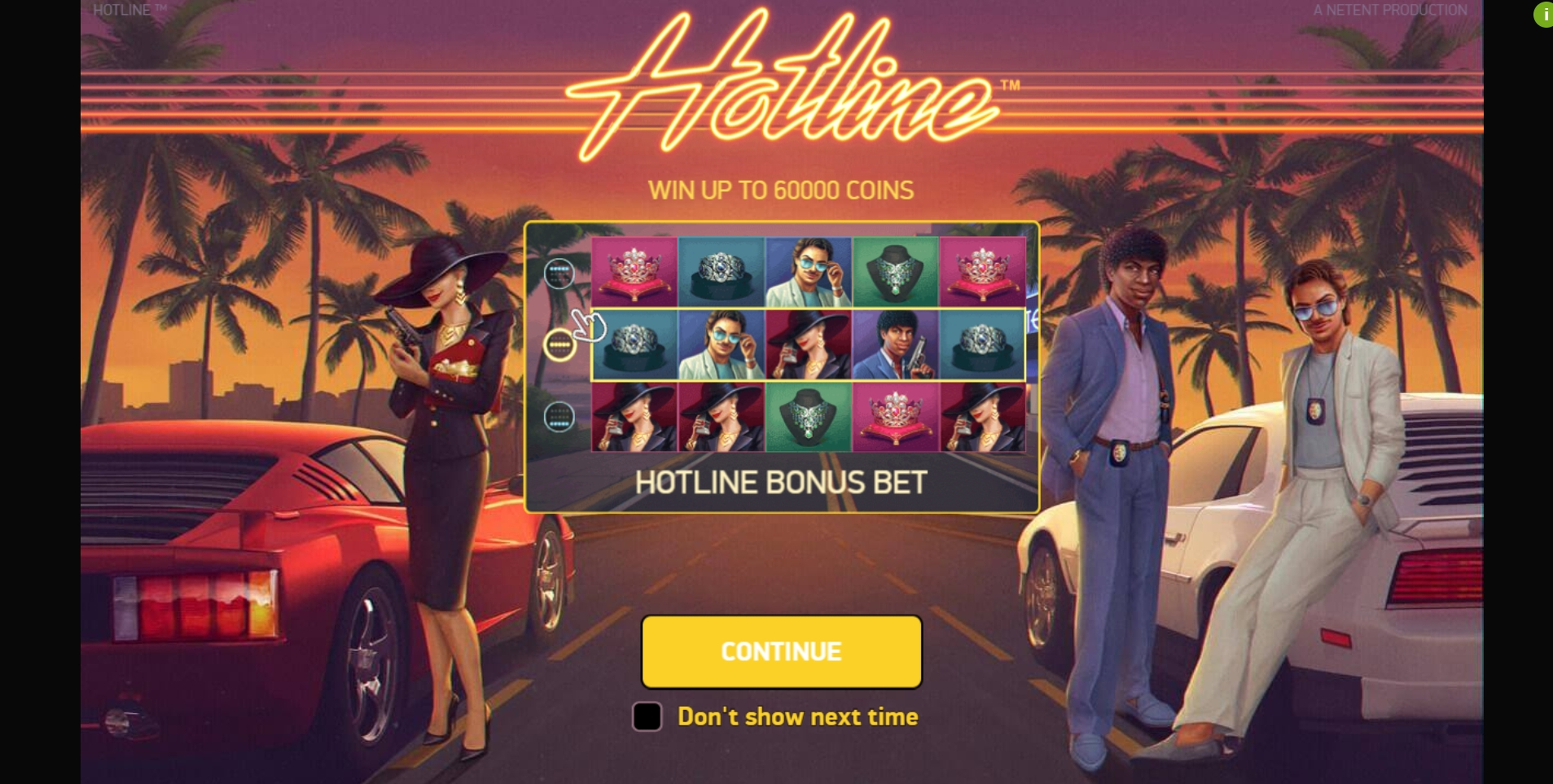 Play Hotline Free Casino Slot Game by NetEnt