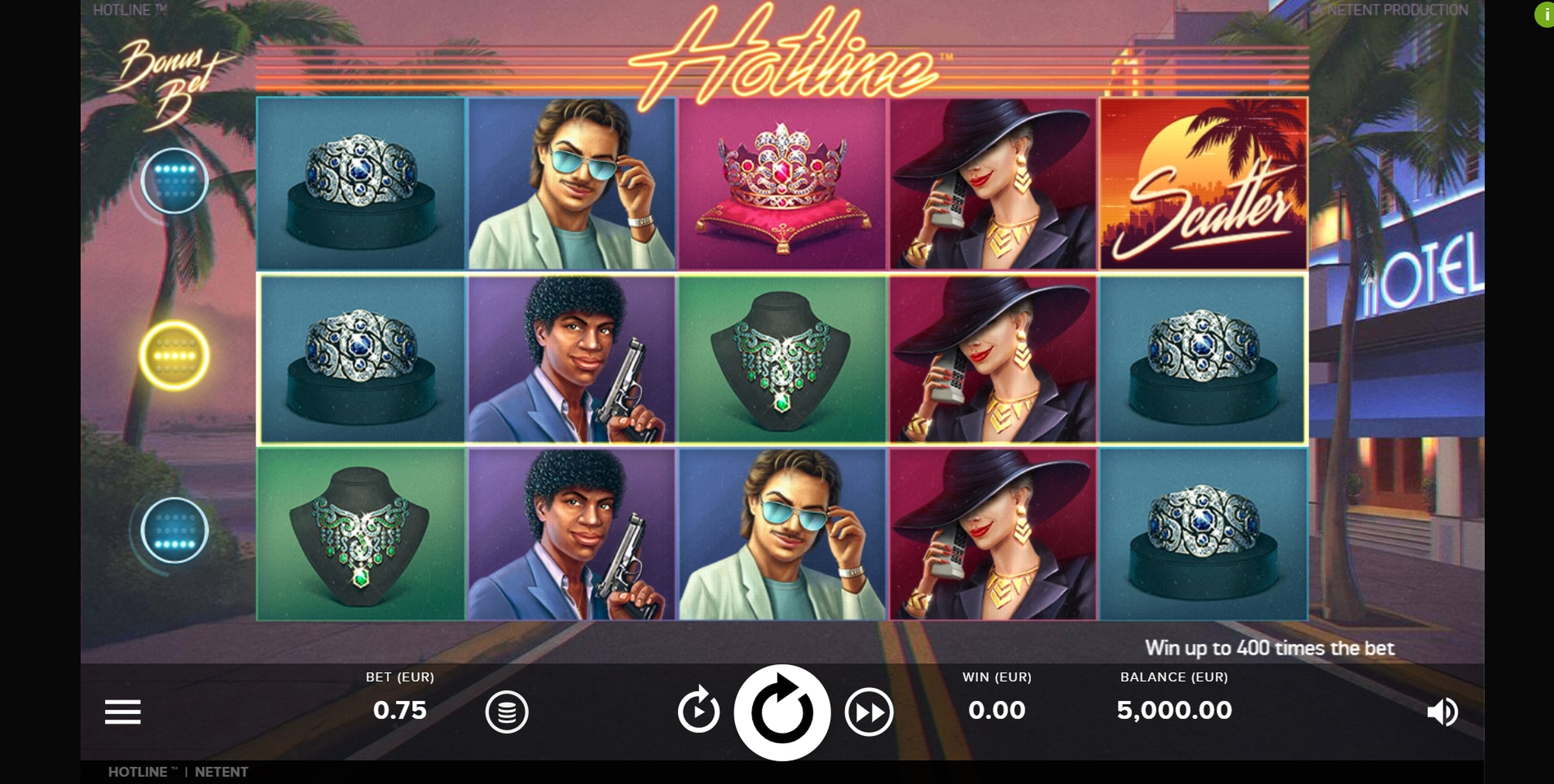 Reels in Hotline Slot Game by NetEnt