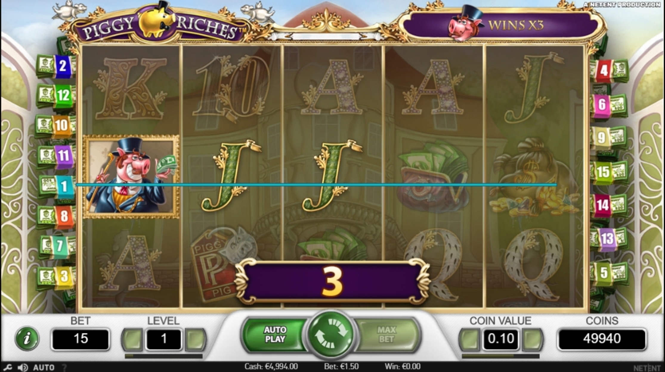 Win Money in Piggy Riches Free Slot Game by NetEnt